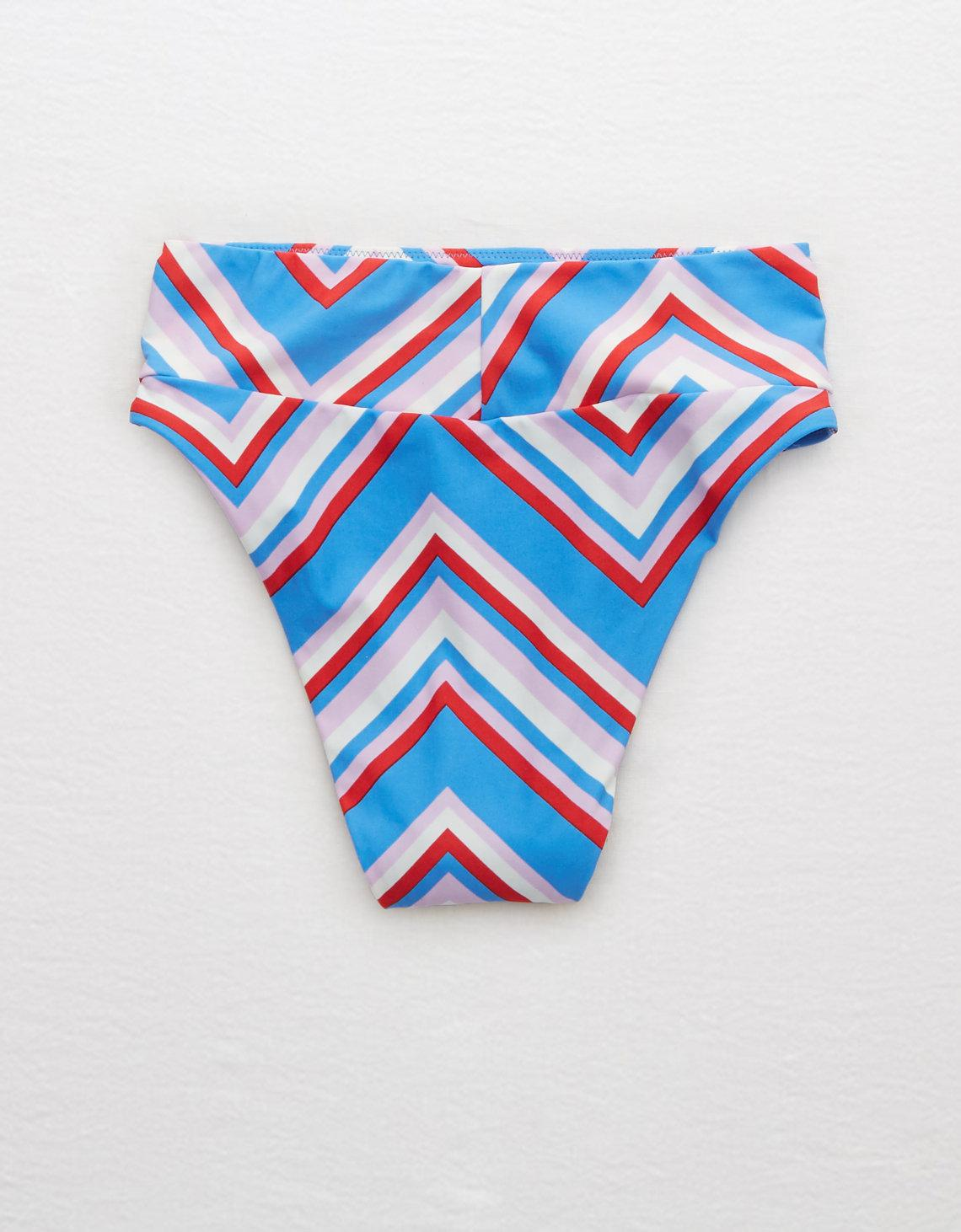 c489c99d0d Lyst - American Eagle High Cut Cheeky Bikini Bottom in Blue
