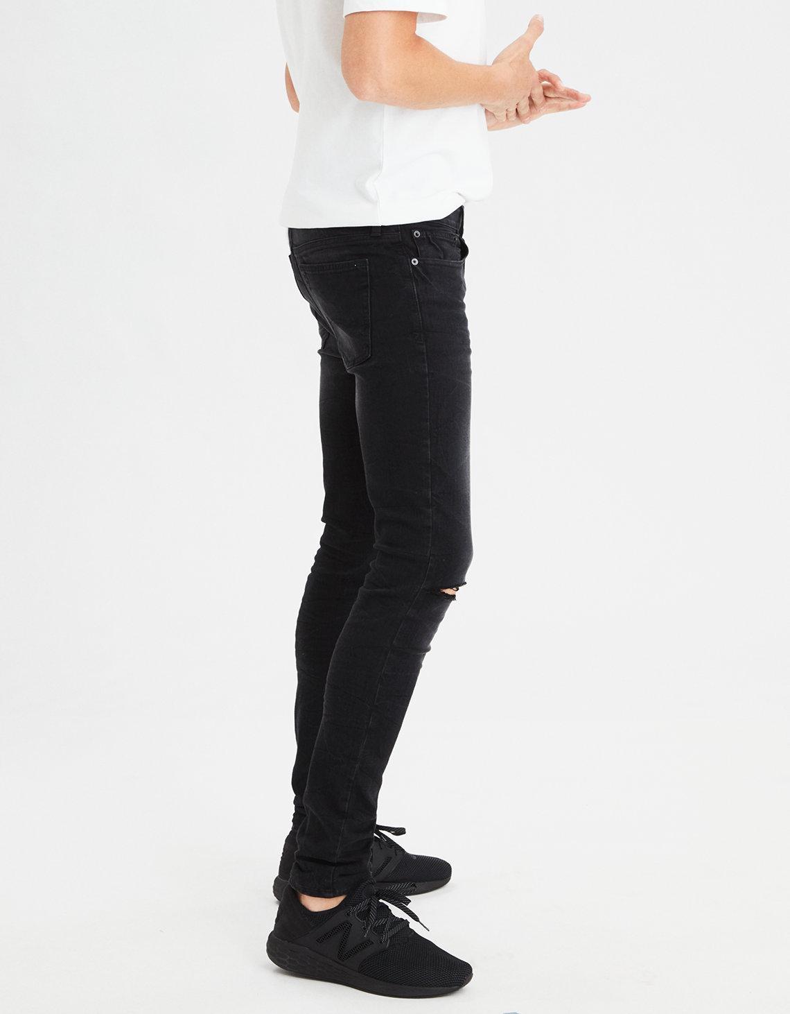 Lyst - American Eagle Ae 360 Extreme Flex Super Skinny Jean in Black for Men 1c2117108