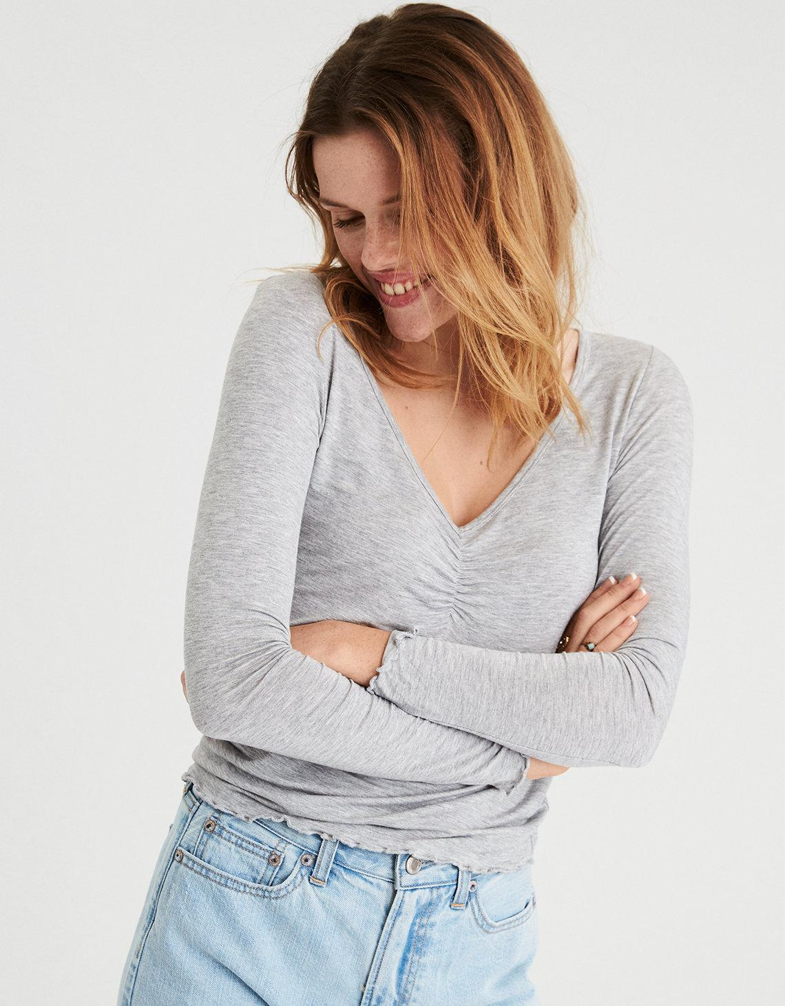 f71cfd5453245a Gallery. Previously sold at  American Eagle · Women s Fern Tops Women s Open  Shoulder ...