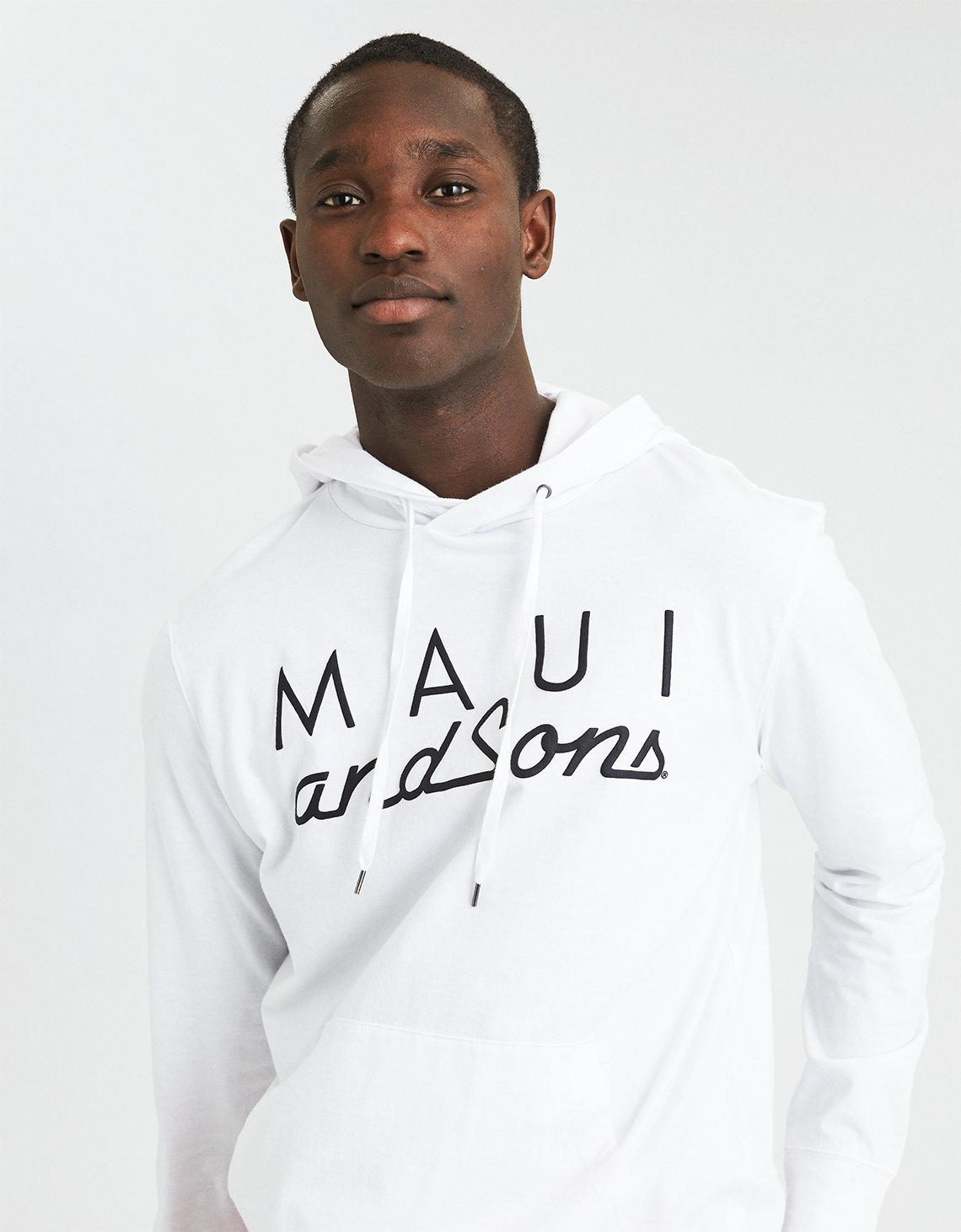 89dc77c9 American Eagle Ae X Maui And Sons Graphic Hoodie T-shirt in White ...