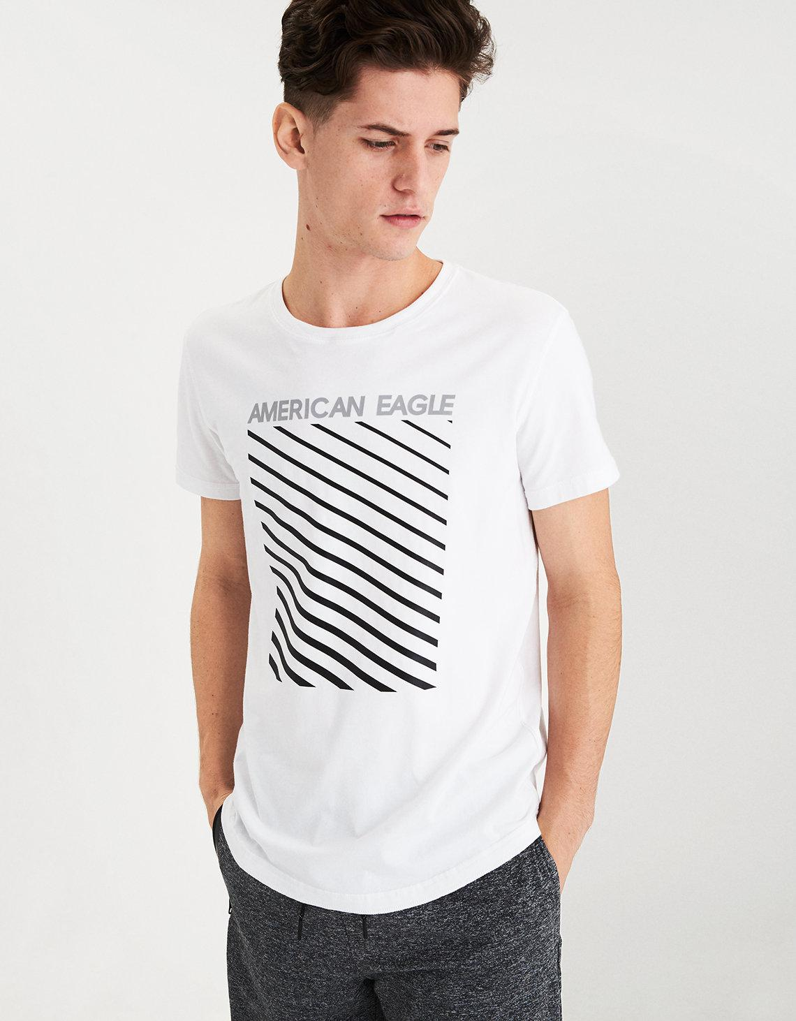 e089d80d84c4 Lyst - American Eagle Ae Active Flex Graphic T-shirt in White for Men