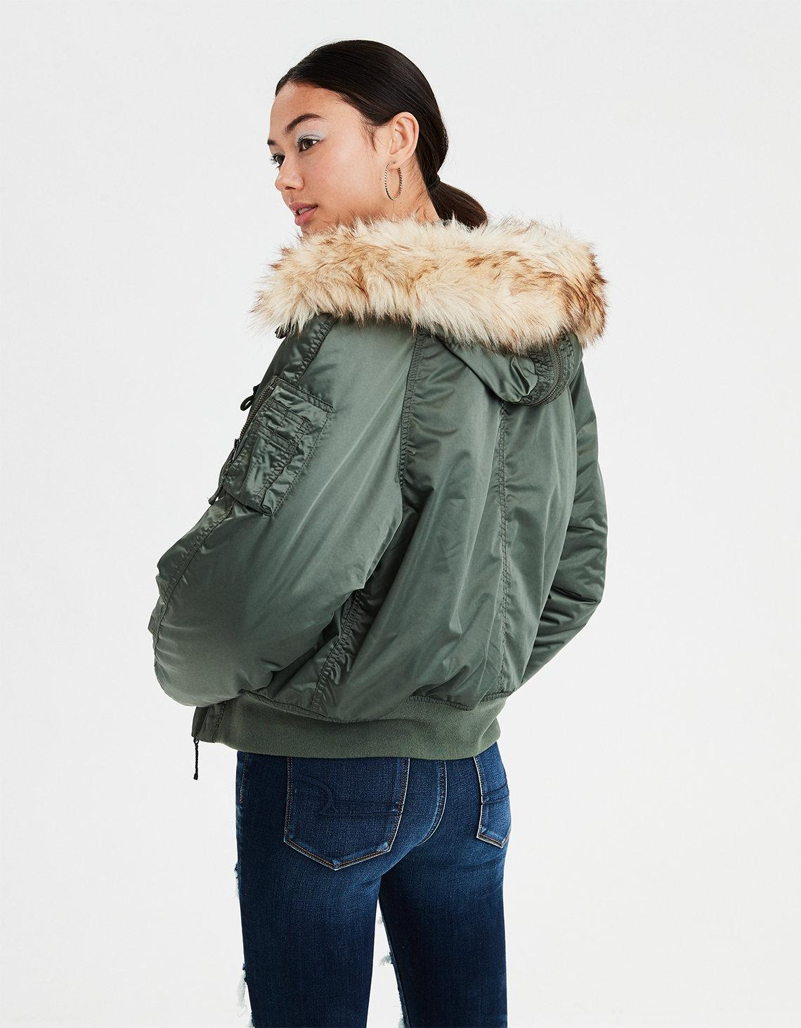 58d34dfe0 American Eagle Green Ae Flight Bomber Jacket