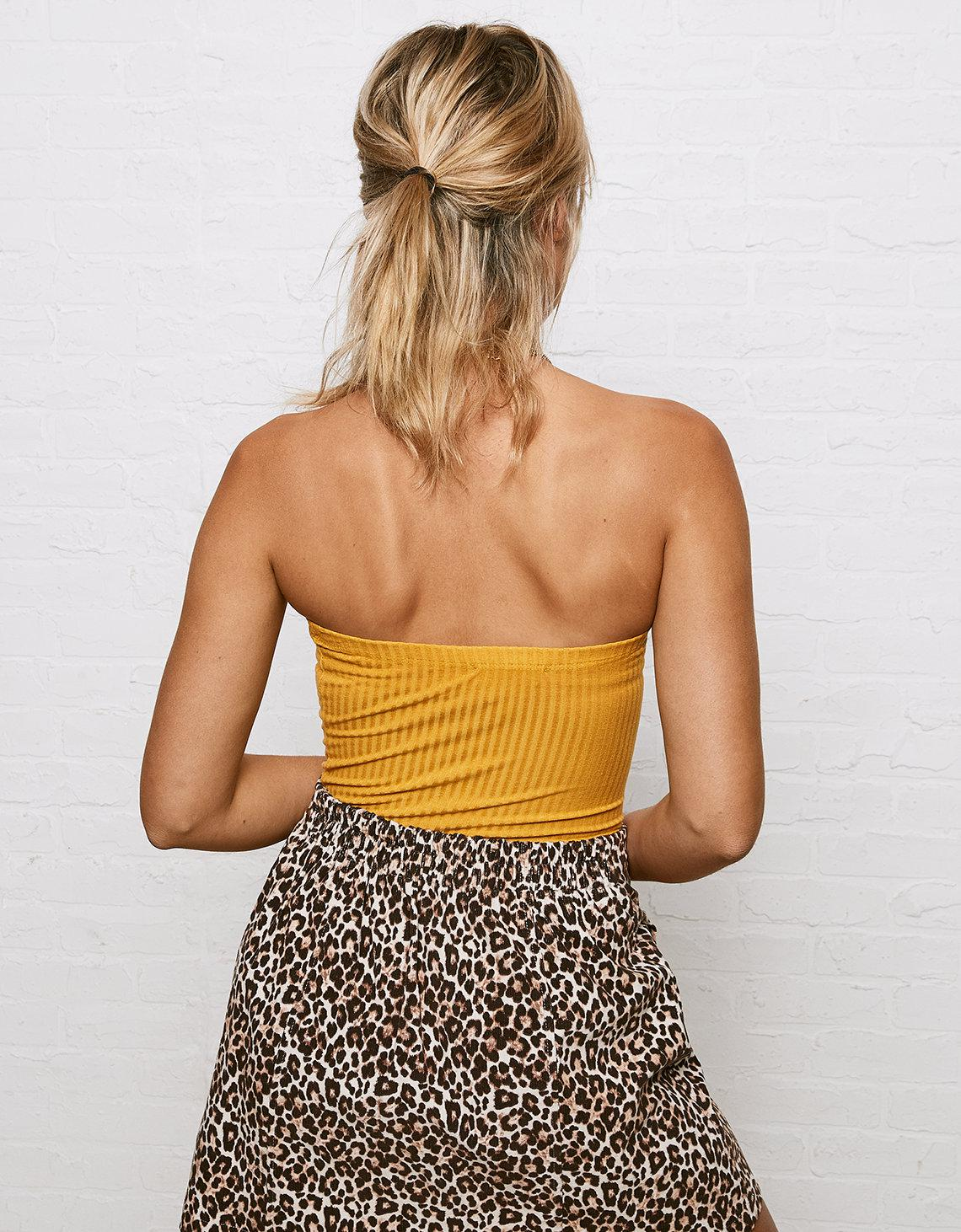 Lyst - American Eagle Don t Ask Why Tube Top Bodysuit in Yellow 16042e224