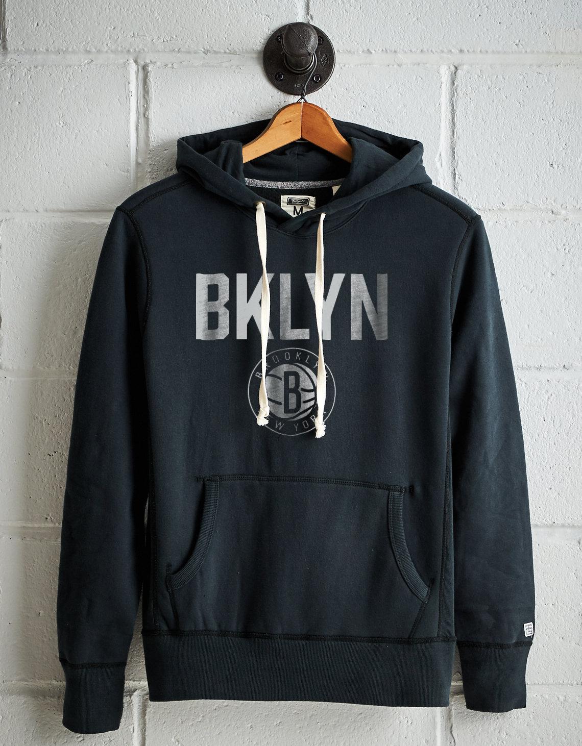 Darkness Mens Hooded Jacket Brooklyn Nets