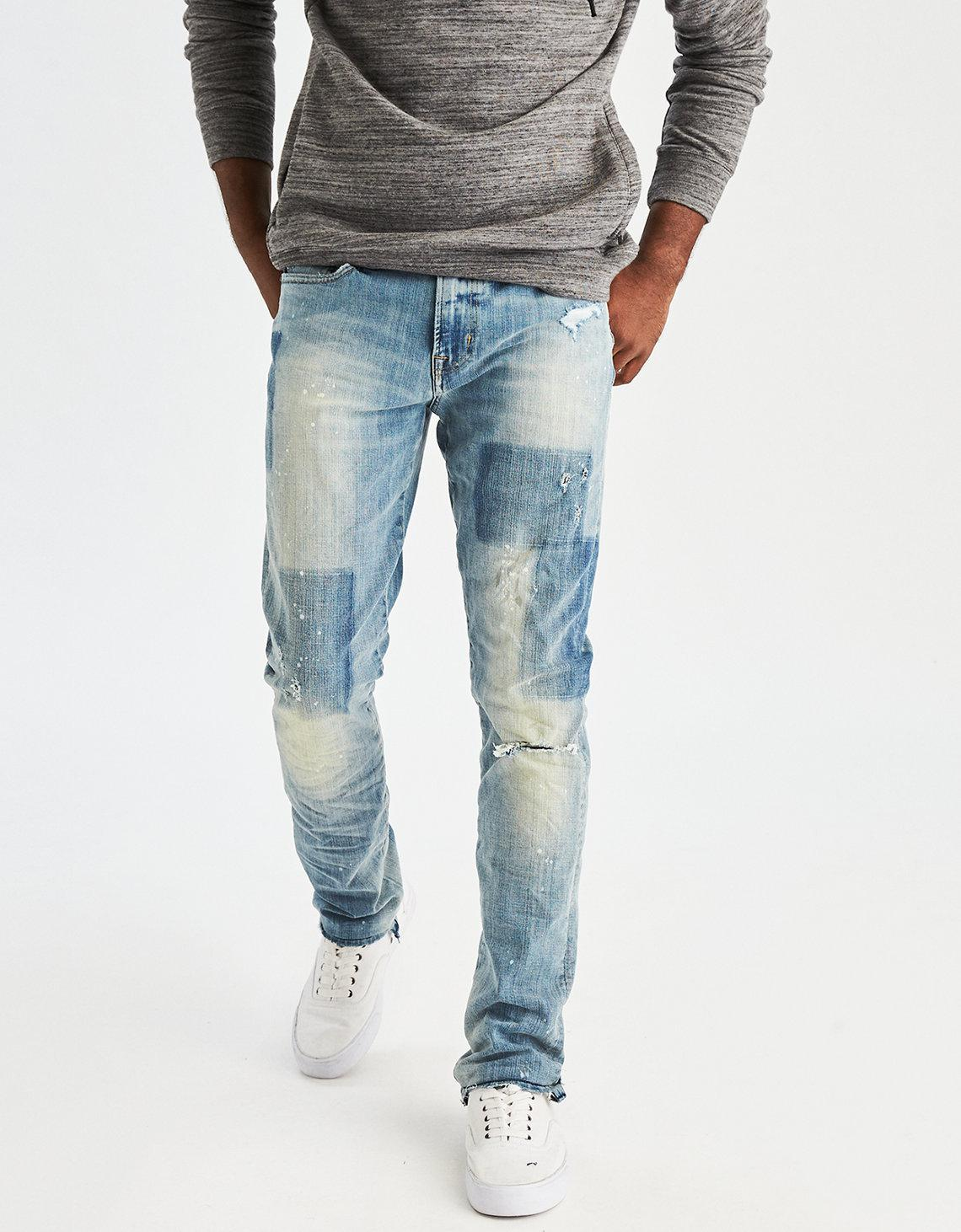 6078414c Lyst - American Eagle 360 Extreme Flex Slim Jean in Blue for Men