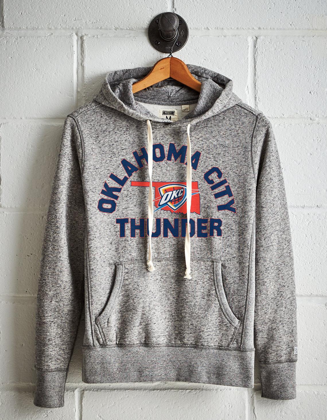 free shipping 5fd4a 3deb0 Tailgate Gray Men's Oklahoma City Thunder Fleece Hoodie for men