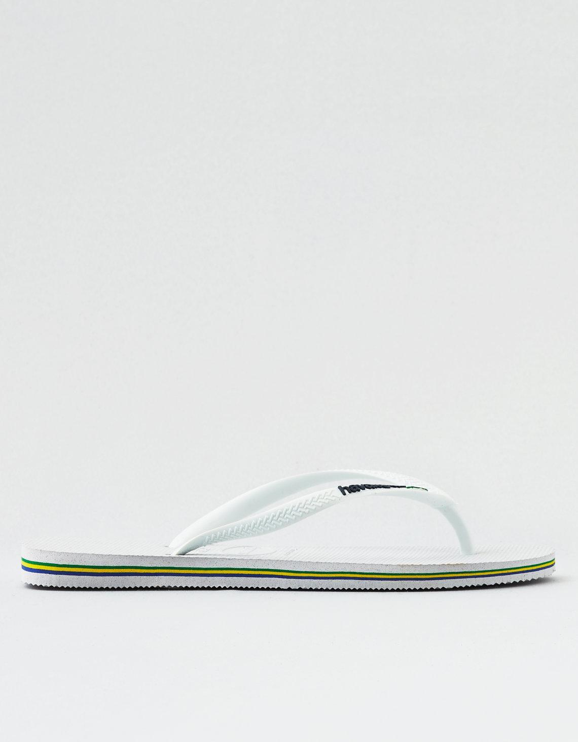9670ec99d9eeca Lyst - American Eagle Havaianas Slim Brazil Flip Flop in White