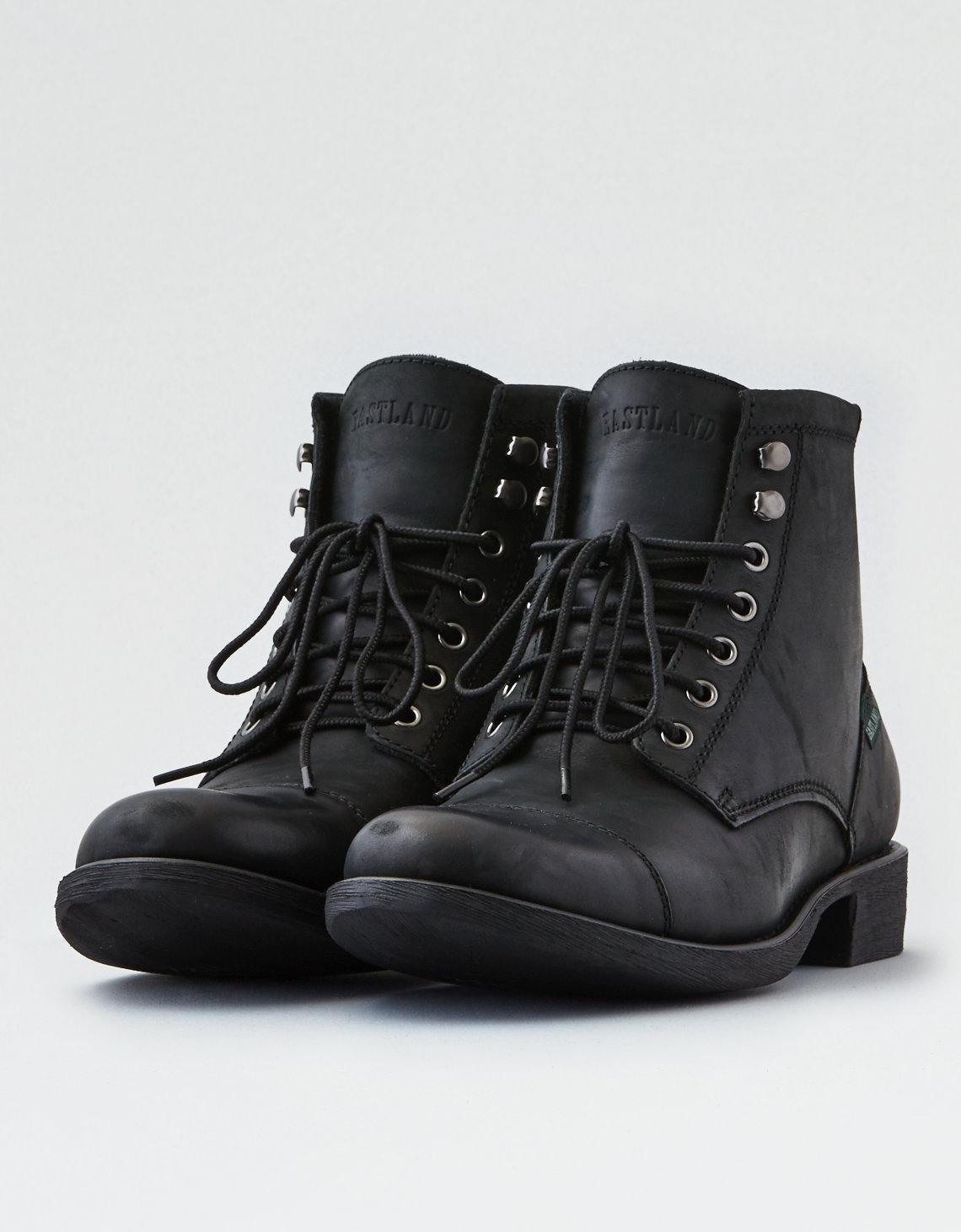 17097026500 American Eagle Black Eastland High Fidelity Cap Toe Boot for men