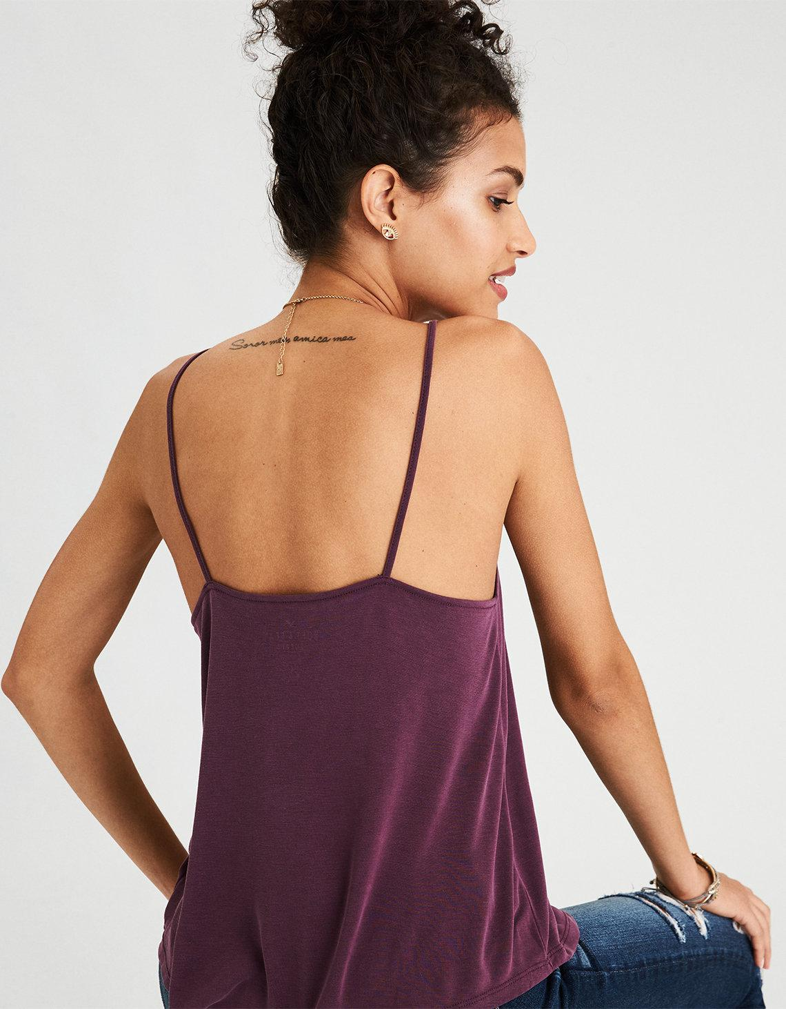 22bbbaa506 Lyst - American Eagle Ae Soft   Sexy Lace-up Swing Tank Top in Purple