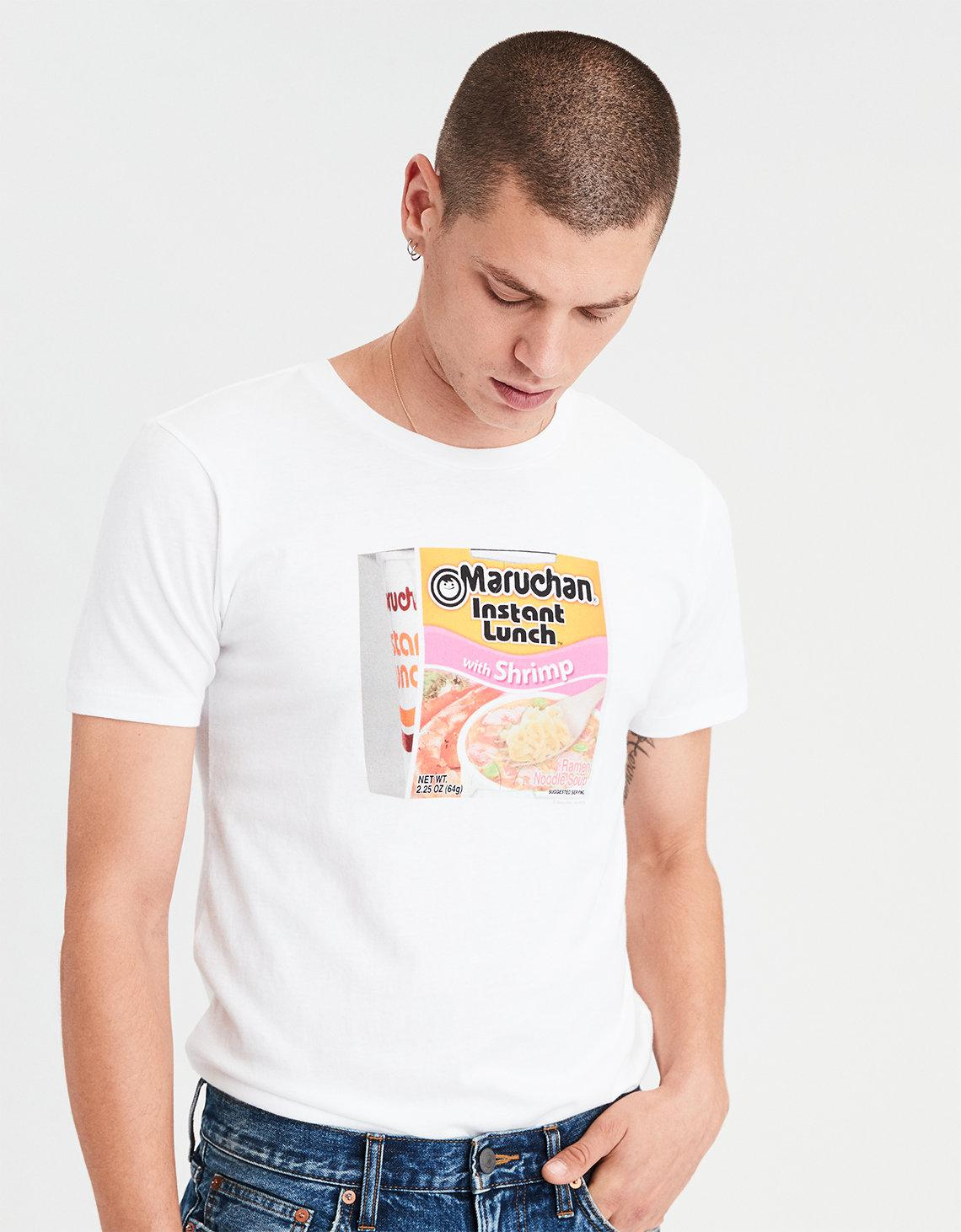 8b35be8b American Eagle Ae Instant Lunch Graphic Tee in White for Men - Lyst