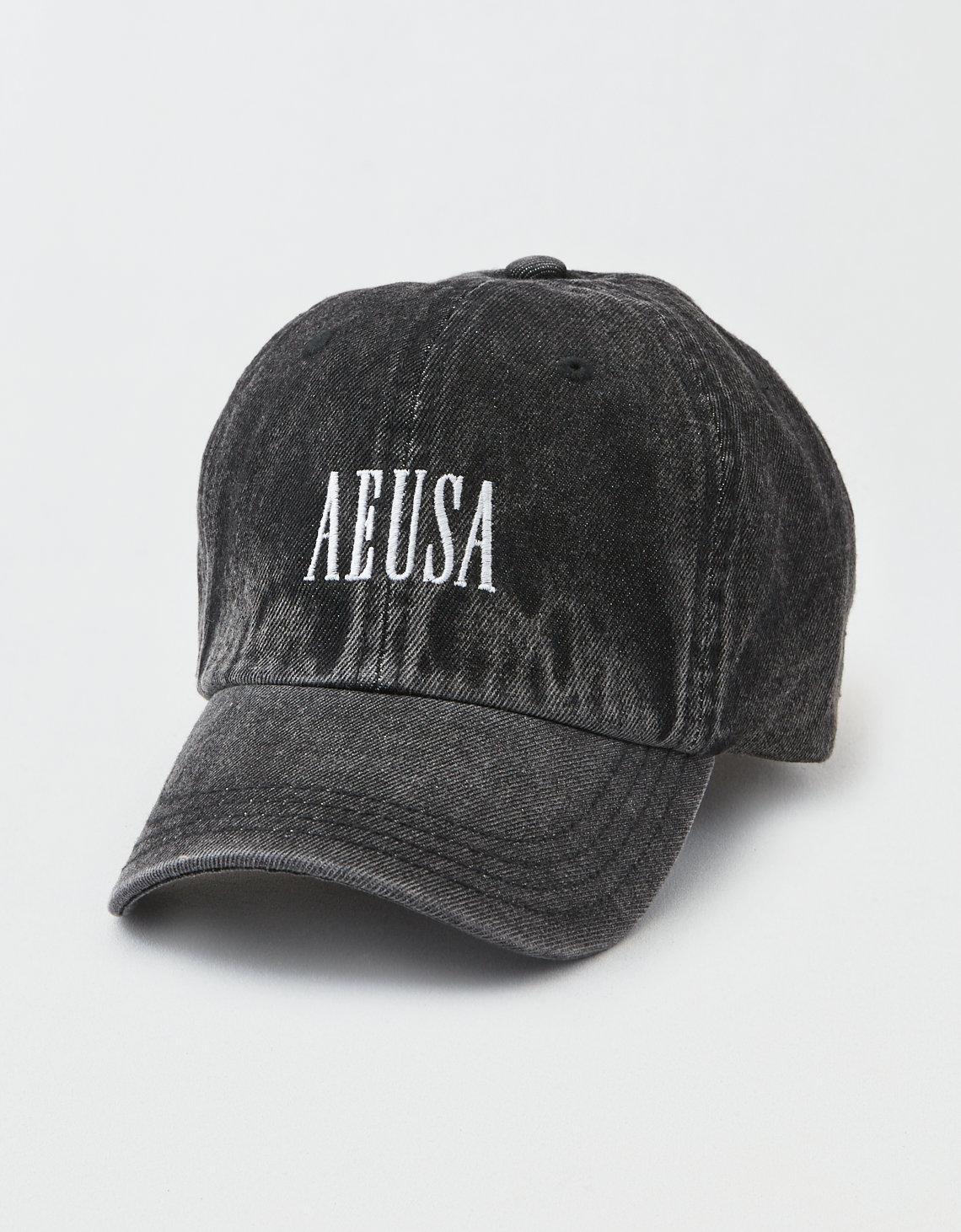 Lyst - American Eagle Ae Logo Baseball Hat in Black for Men 763f441c55b5