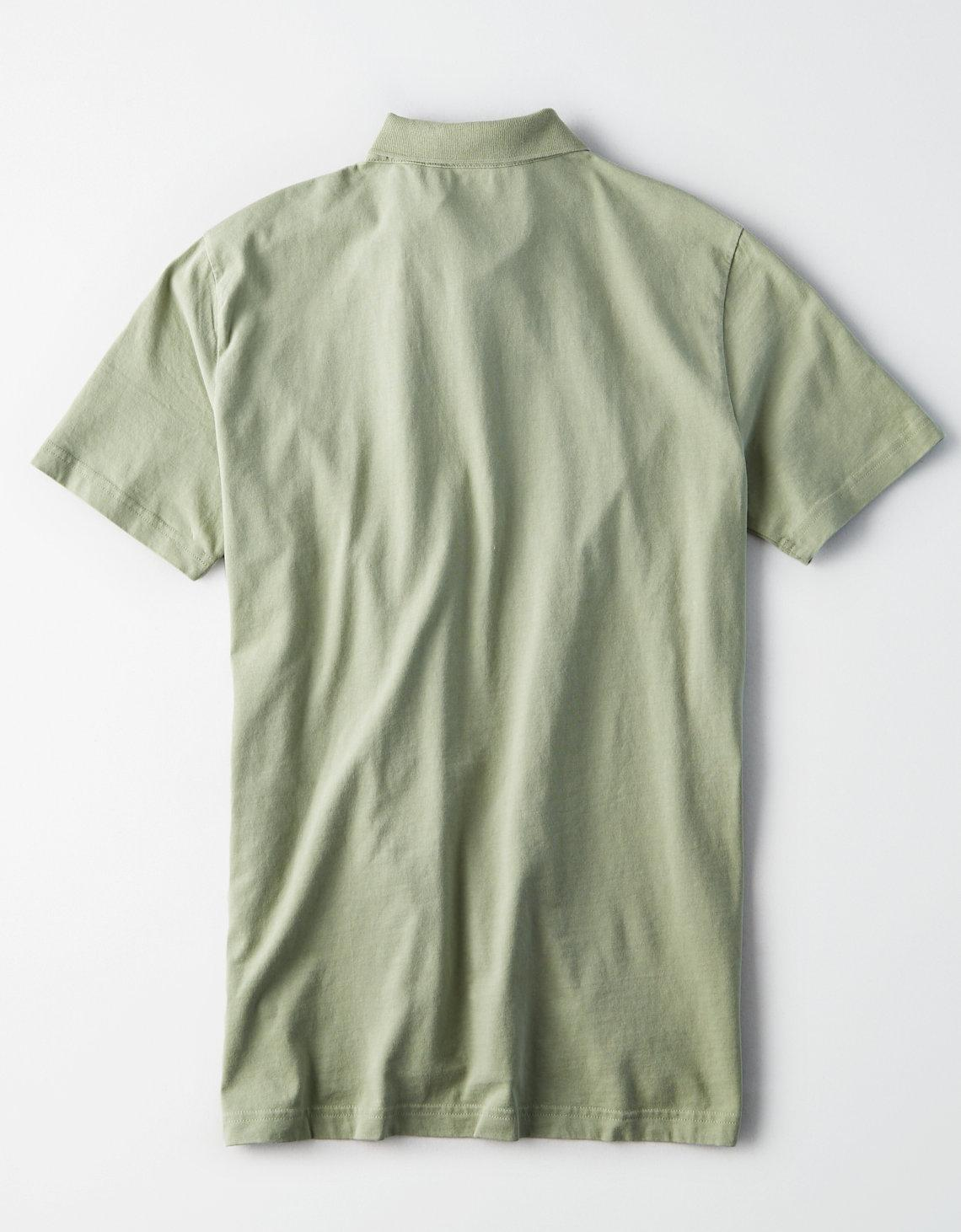 cd1676a9 Lyst - American Eagle Ae Logo Jersey Polo in Green for Men