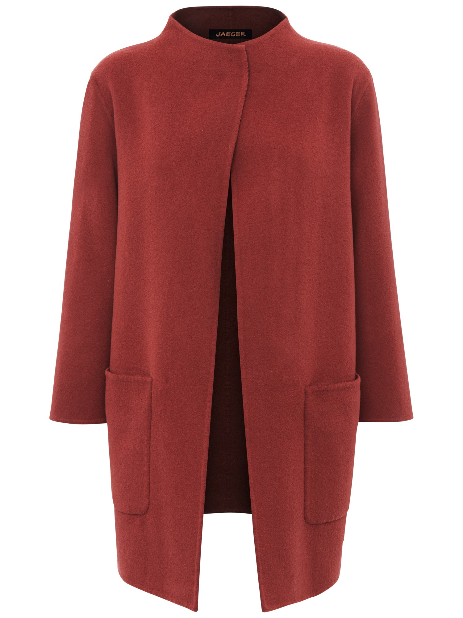 Jaeger Double-faced Wool Duster Coat in Pink   Lyst