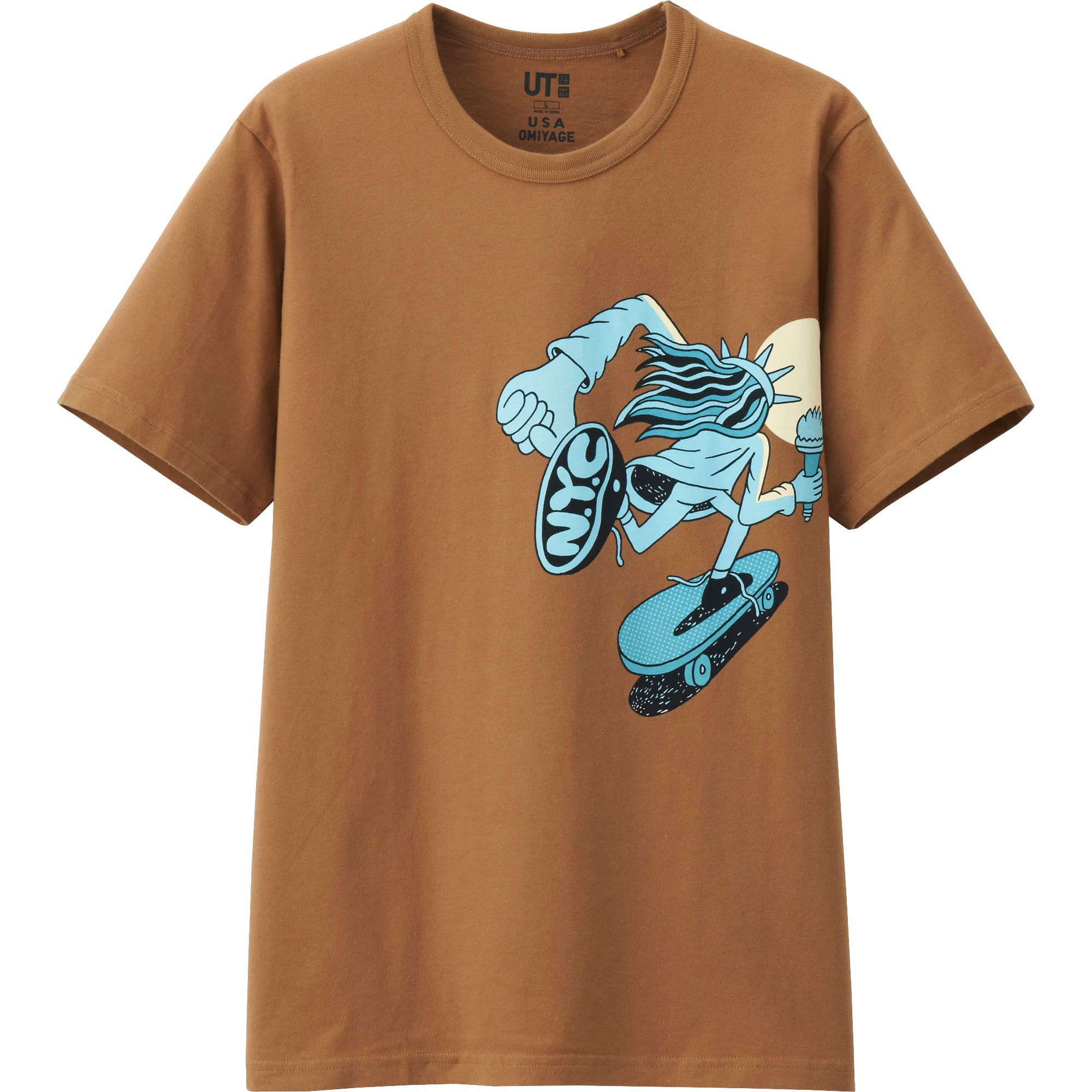 Uniqlo Men Usa Omiyage Graphic Short Sleeve T Shirt In