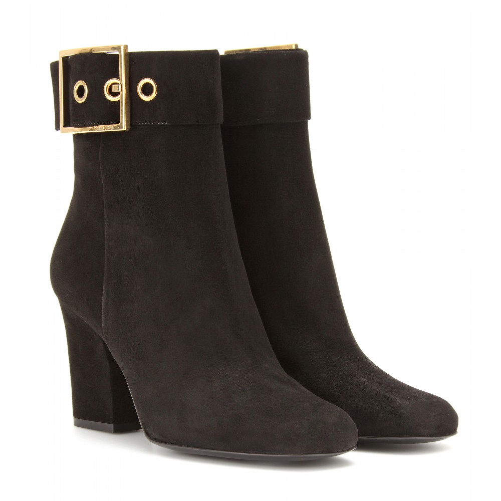 Gucci Kesha Suede Ankle Boots In Brown Lyst