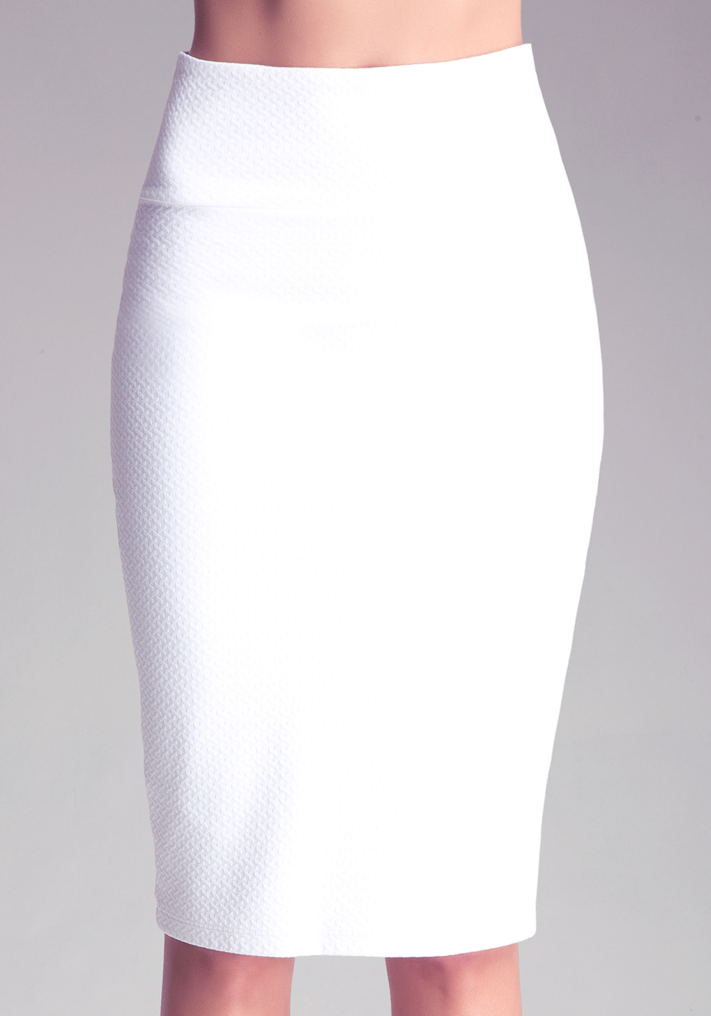 bebe knit midi skirt in white lyst