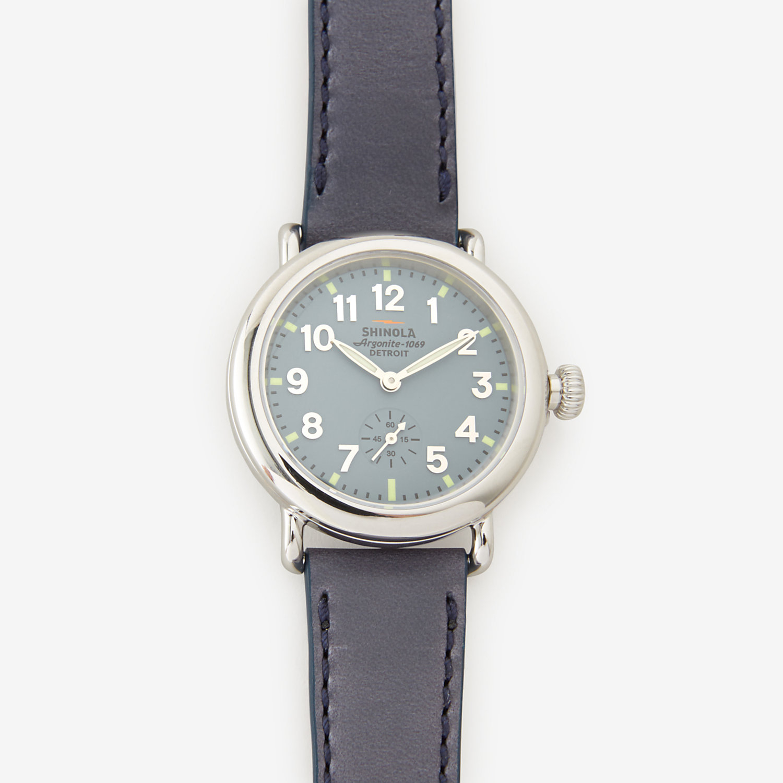 Shinola women 39 s runwell 36mm watch in blue blue dial blue strap lyst for Shinola watches
