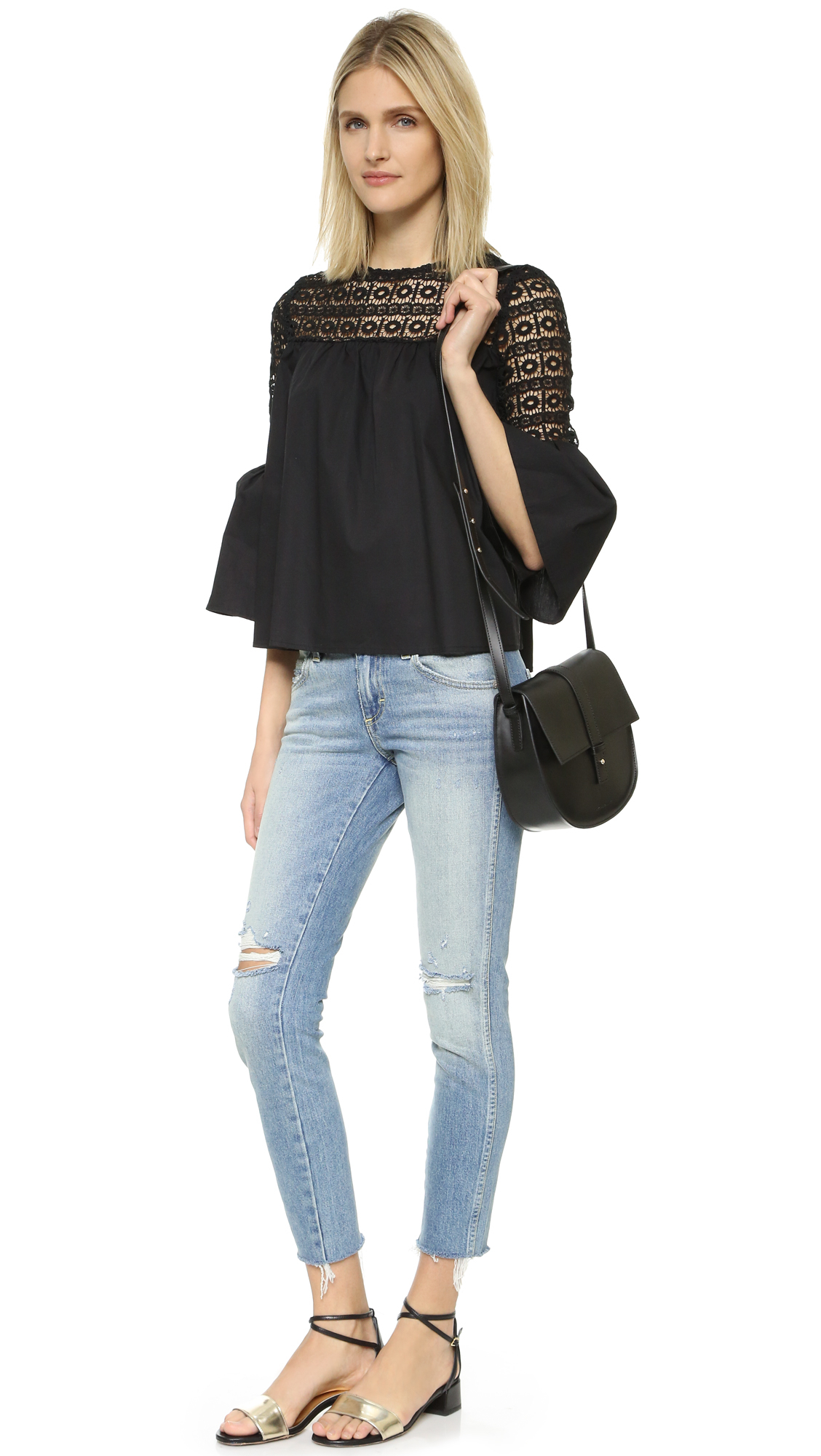 Endless rose Boho Blouse in Black