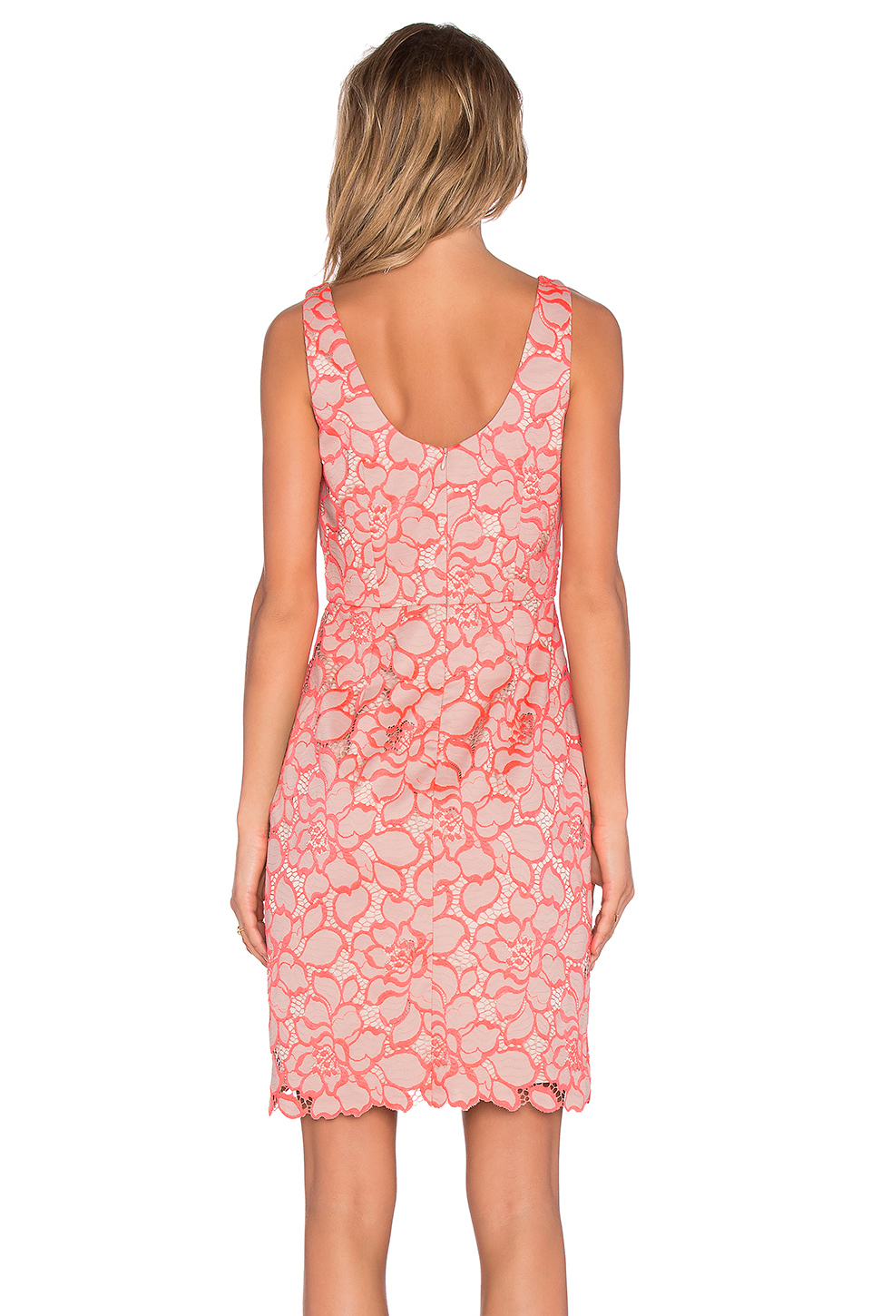 Lyst - Trina Turk Kruze Leaf-Print Mini Dress In Pink-6340