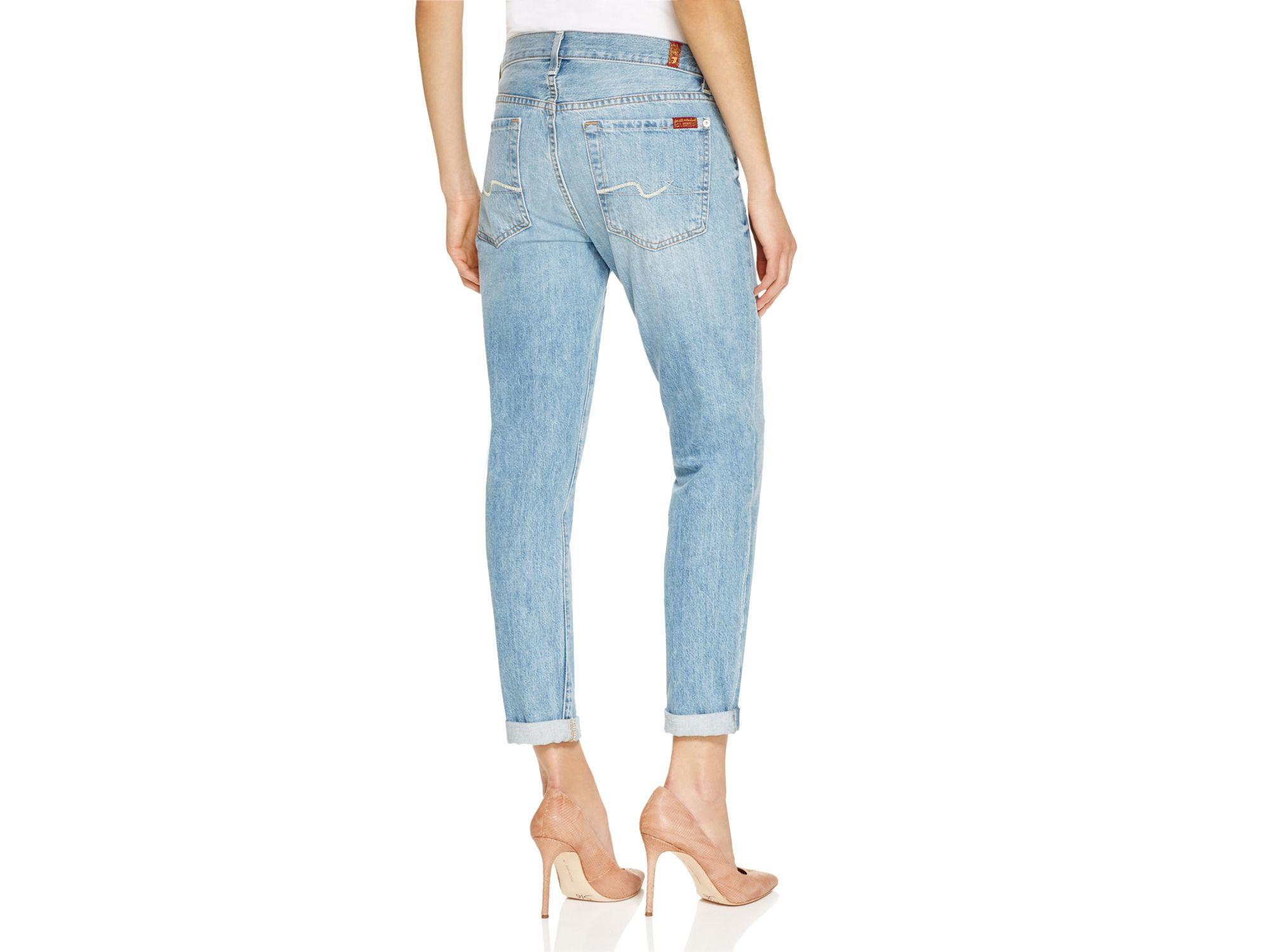 7 for all mankind Josefina Skinny Boyfriend Jeans In Heritage ...