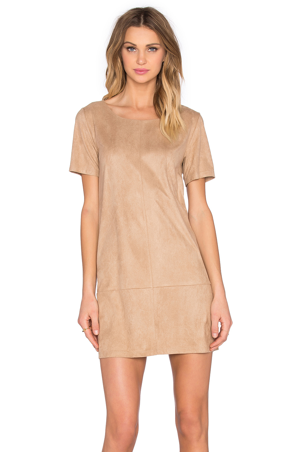 fec0e3d8484e Lyst - Bishop + Young Suede Shift Dress in Natural