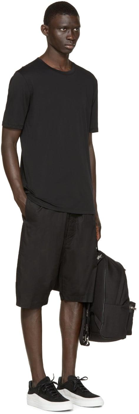 helmut lang black cotton t shirt in black for men lyst. Black Bedroom Furniture Sets. Home Design Ideas