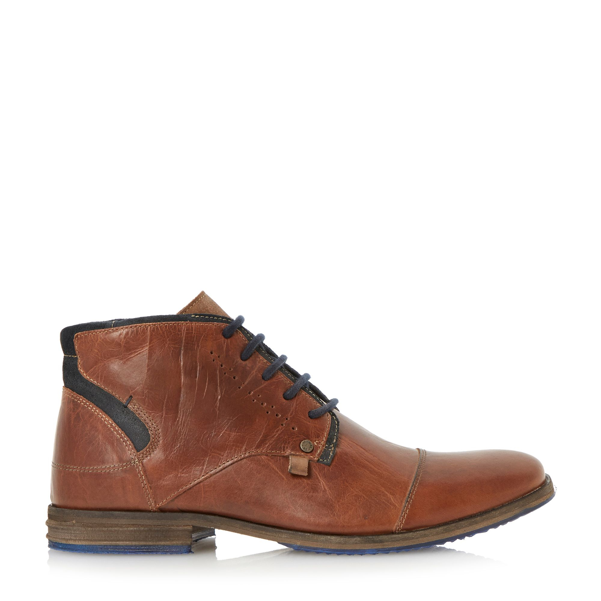 dune choppa casual chukka boots in brown for lyst