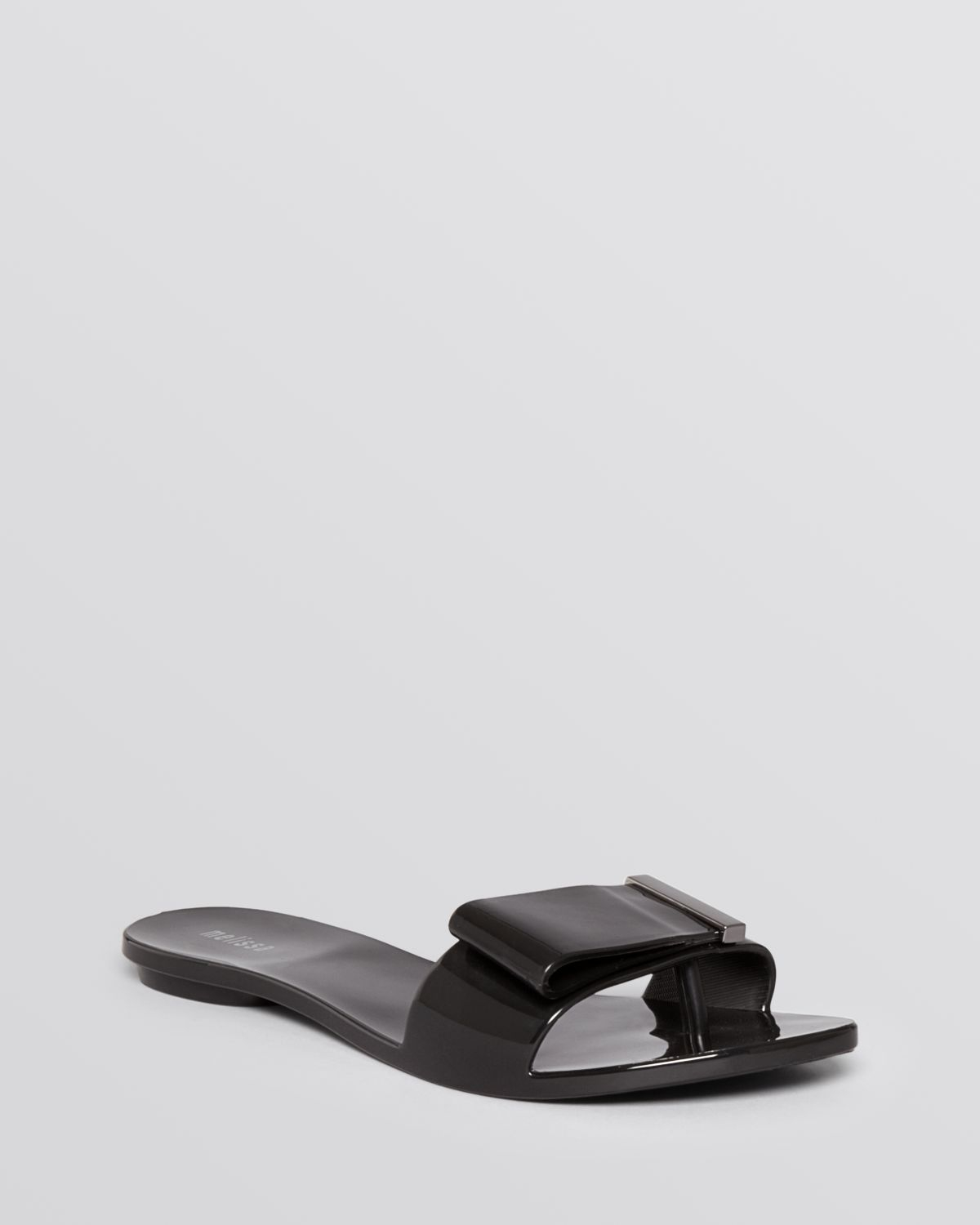 Melissa Flat Thong Jelly Sandals Lovely In Black Lyst