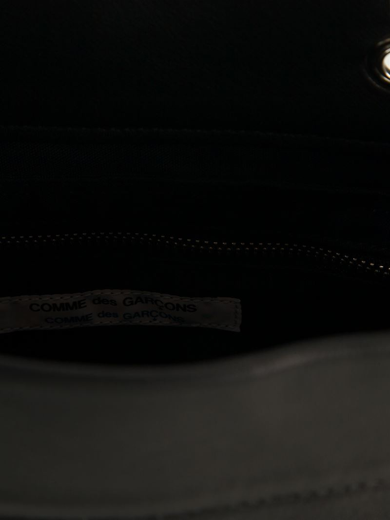 Comme des Garçons Wooden Handle Shopping Tote in Black