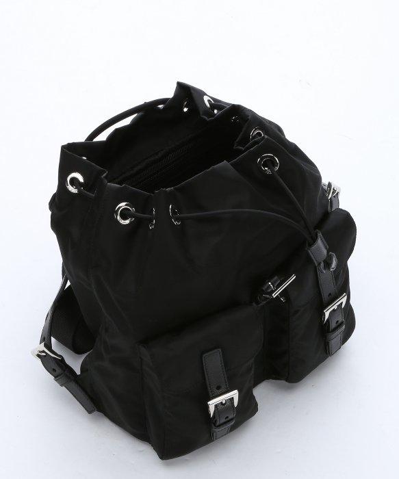 prada wallets cheap - Prada Black Nylon Small Drawstring Backpack in Black | Lyst