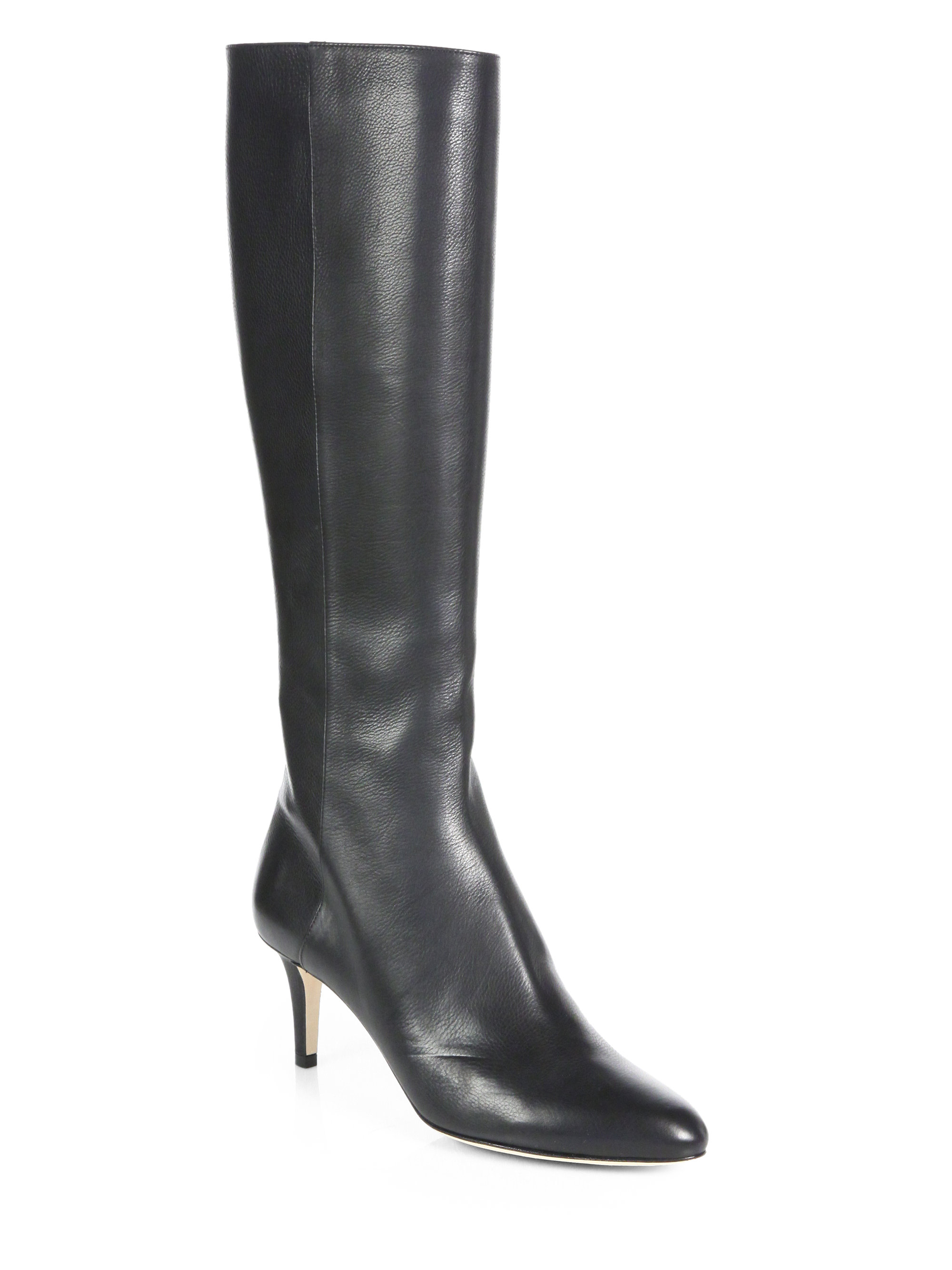 Jimmy Choo Gem Leather Knee-high Boots