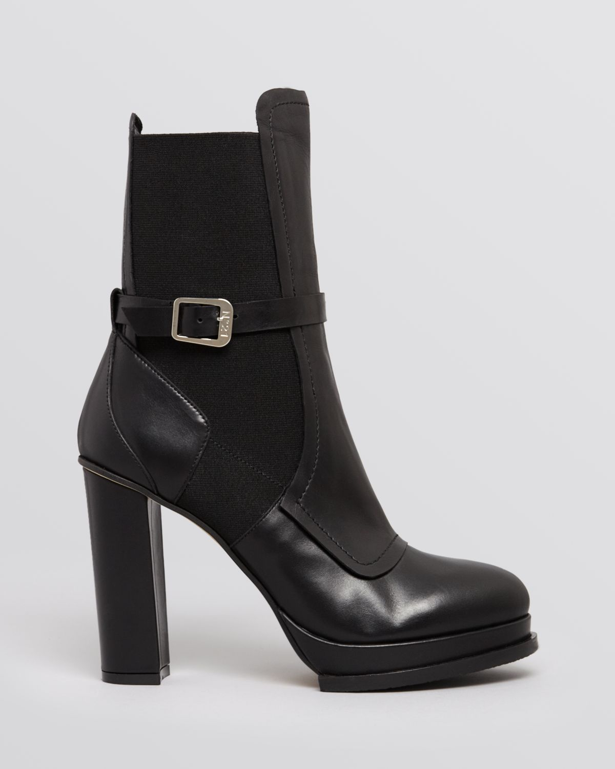 n 176 21 platform boots ankle high heel in black lyst