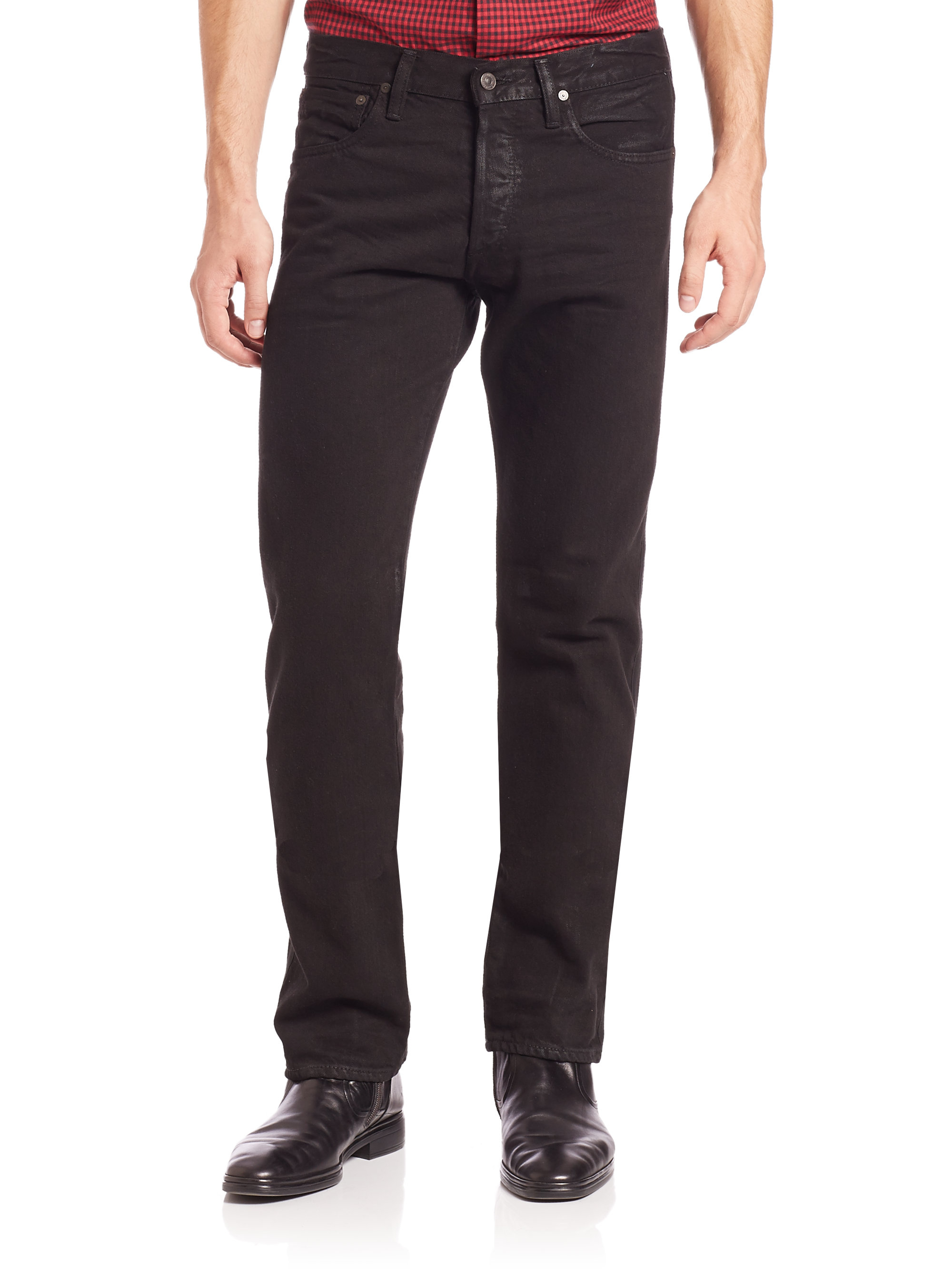 polo ralph lauren coated denim jeans in blue for men lyst. Black Bedroom Furniture Sets. Home Design Ideas