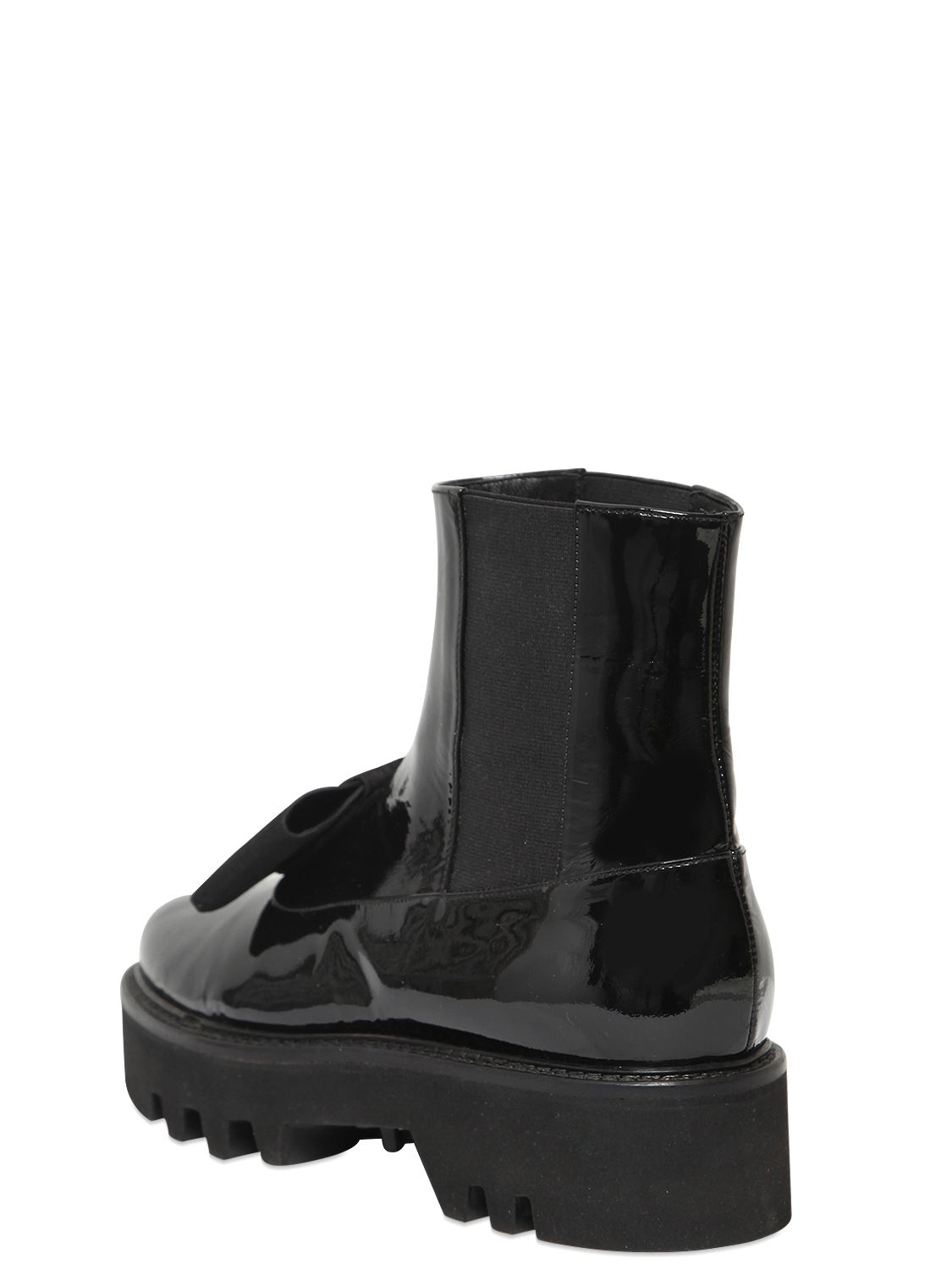 WALTER STEIGER Patent Leather Boots