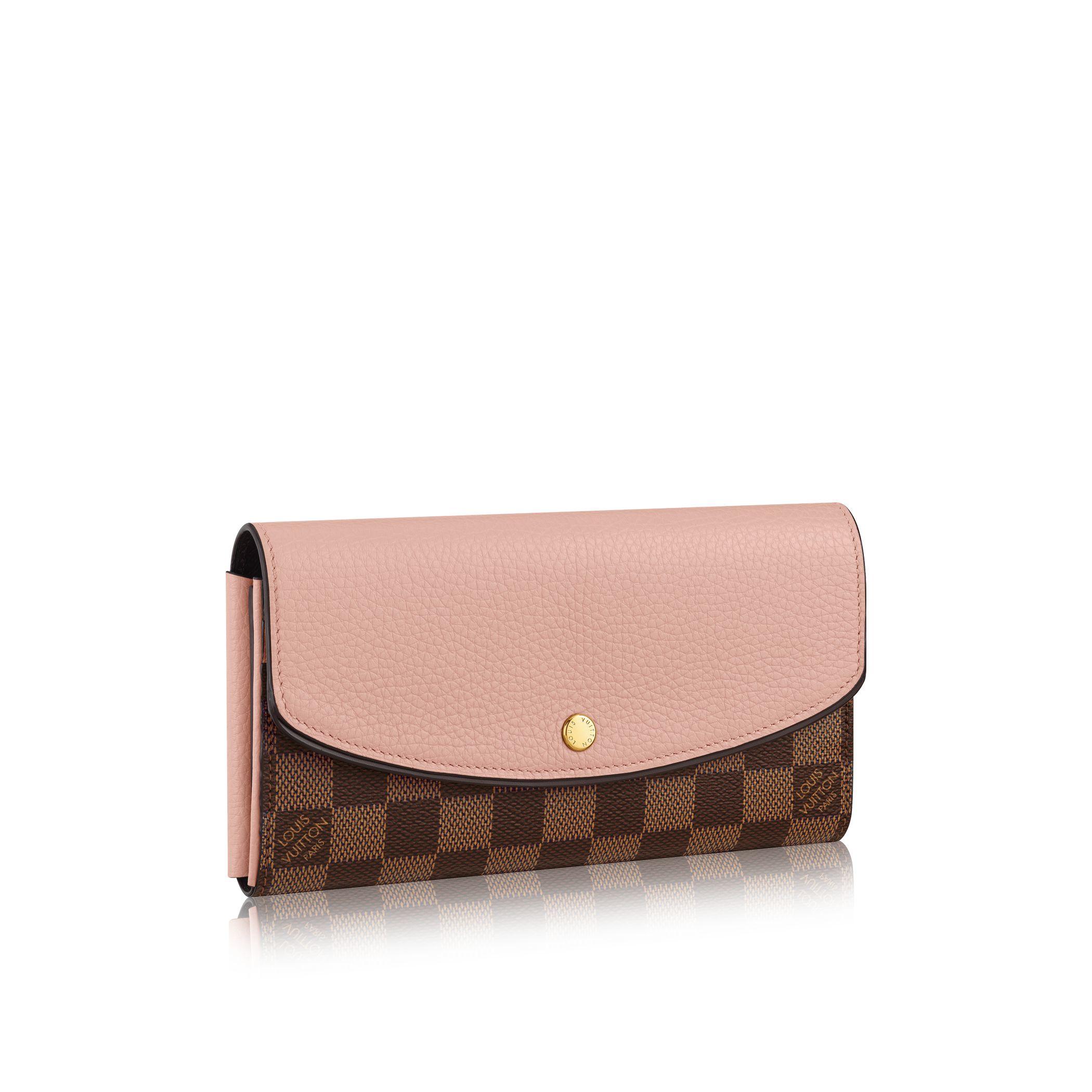 louis vuitton normandy wallet in brown lyst