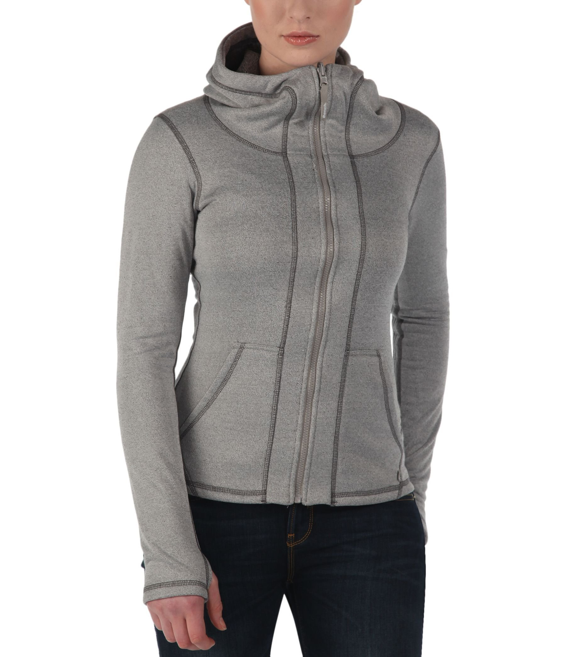 Bench Convertor Reversible Zip Thru Hoodie In Gray Lyst