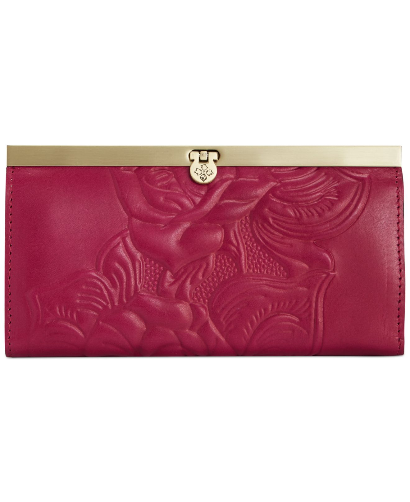 Patricia Nash Cauchy Tooled Rose Wallet In Pink Lyst