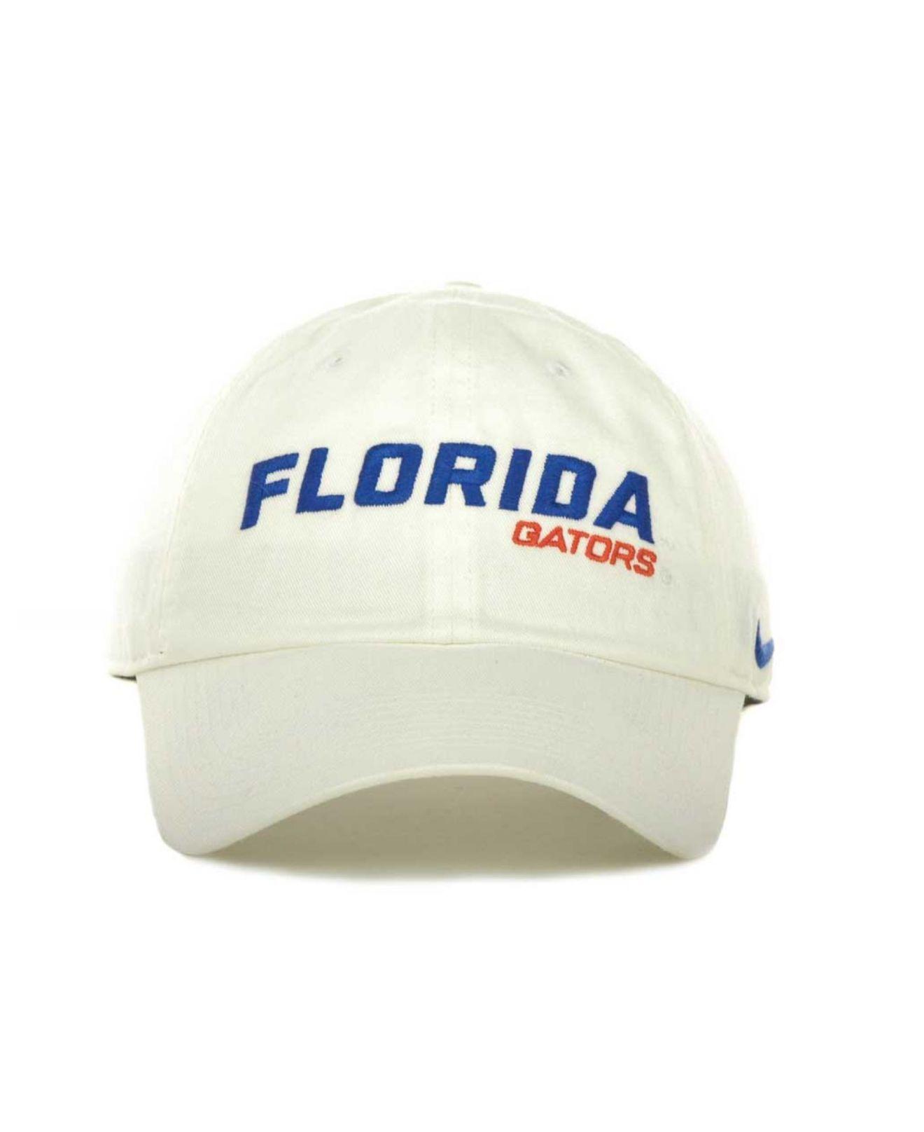 0df1d52473f Lyst - Nike Florida Gators Heritage 86 Campus Cap in White for Men