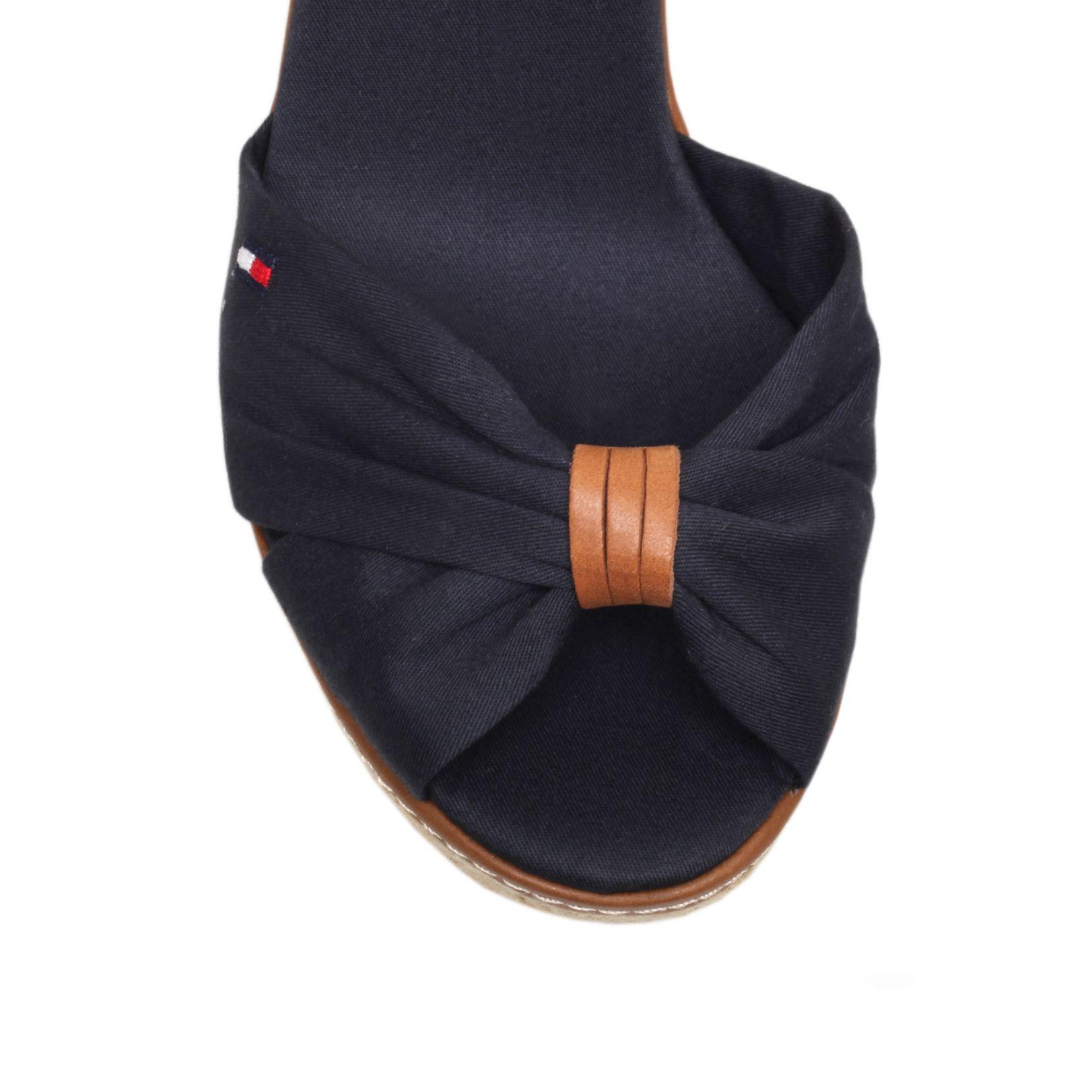 tommy hilfiger emery 54d high wedge heel sandals in blue lyst. Black Bedroom Furniture Sets. Home Design Ideas