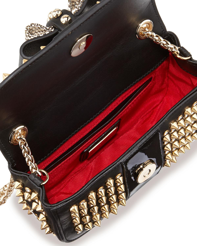 2d6a816a2eb Christian Louboutin Black Sweet Charity Spiked Crossbody Bag