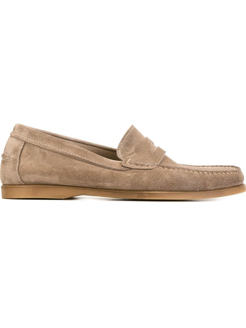Henderson Rubber Sole Penny Loafers in Brown for Men | Lyst