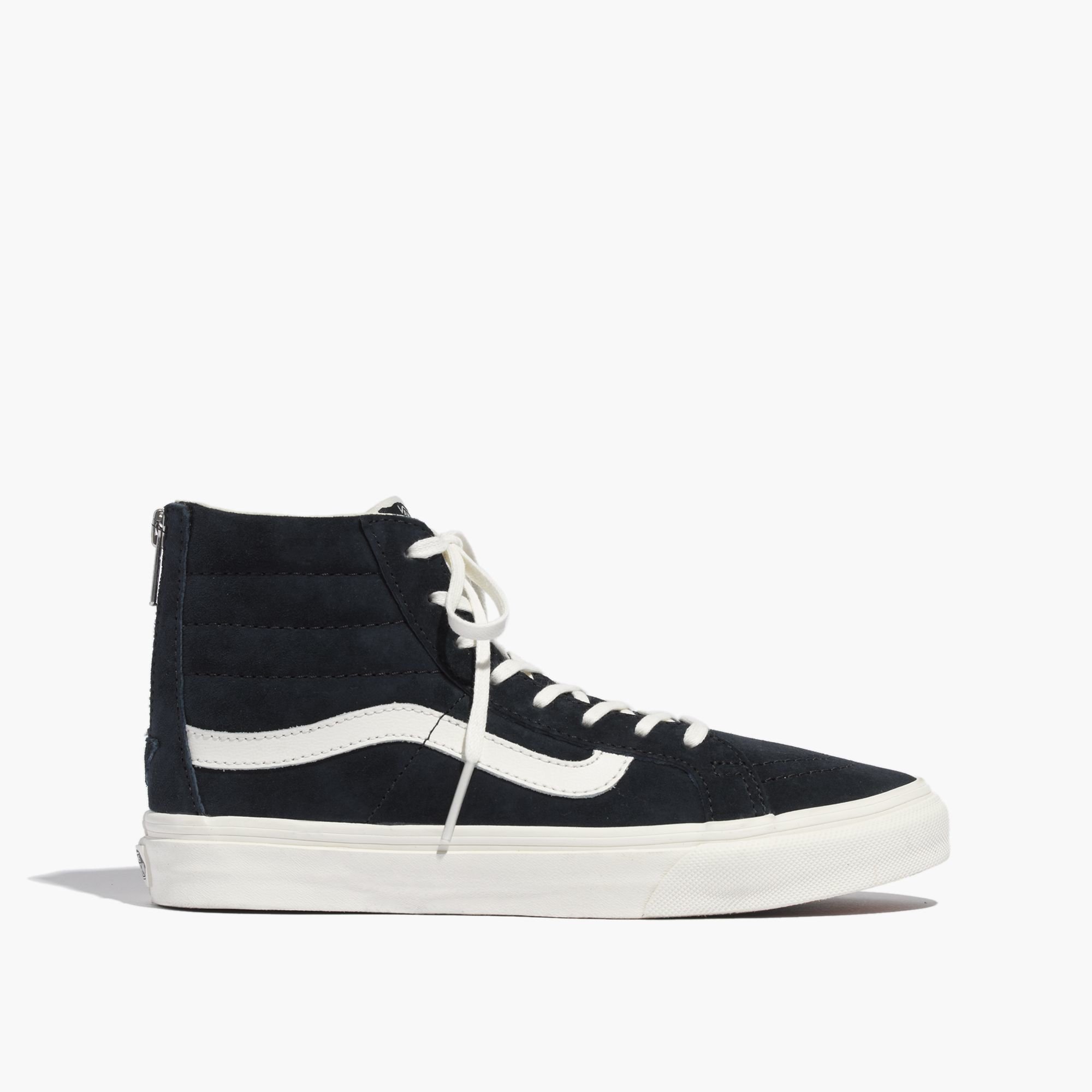 e93436fe60 Lyst - Madewell Vans® Sk8-Hi Slim Zip High-Top Sneakers In Navy ...