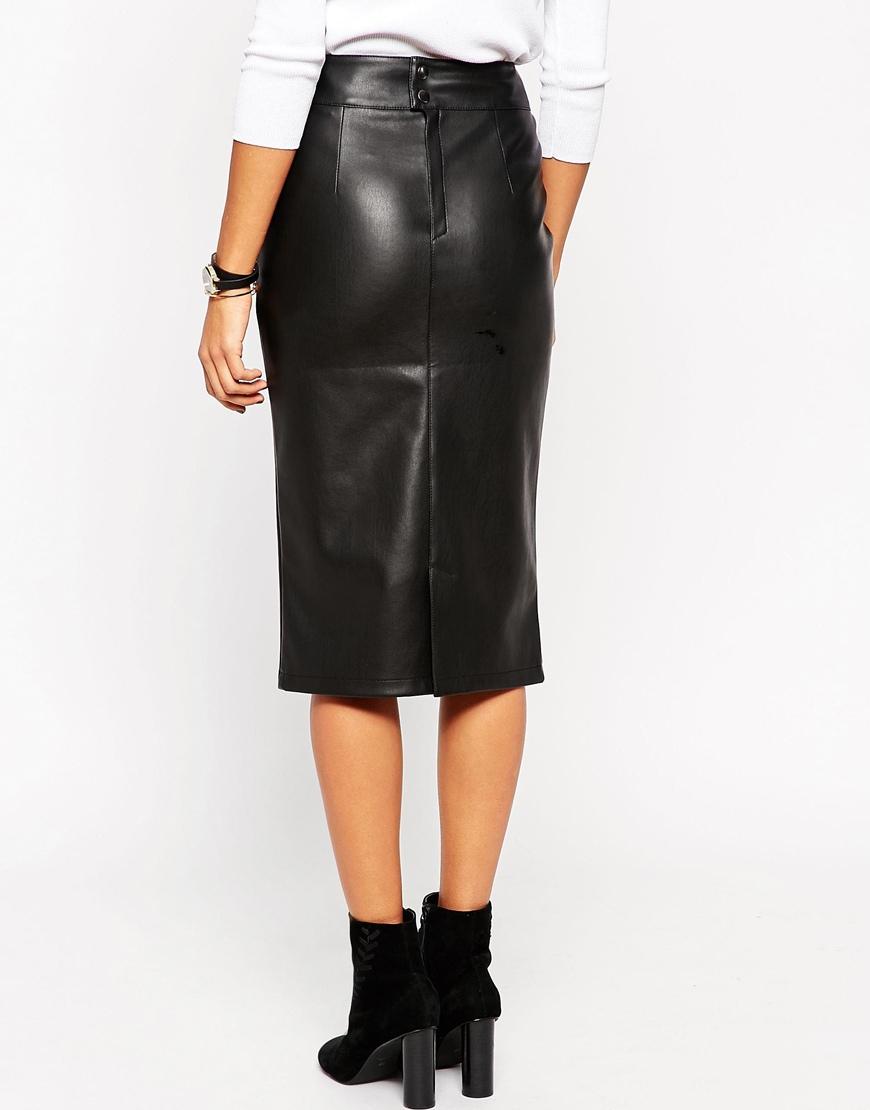 Leather Skirt Petite - Skirts