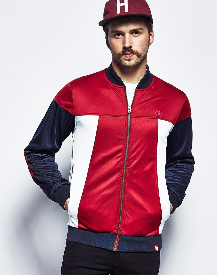yo slayer panelled tricot jacket in natural for men lyst