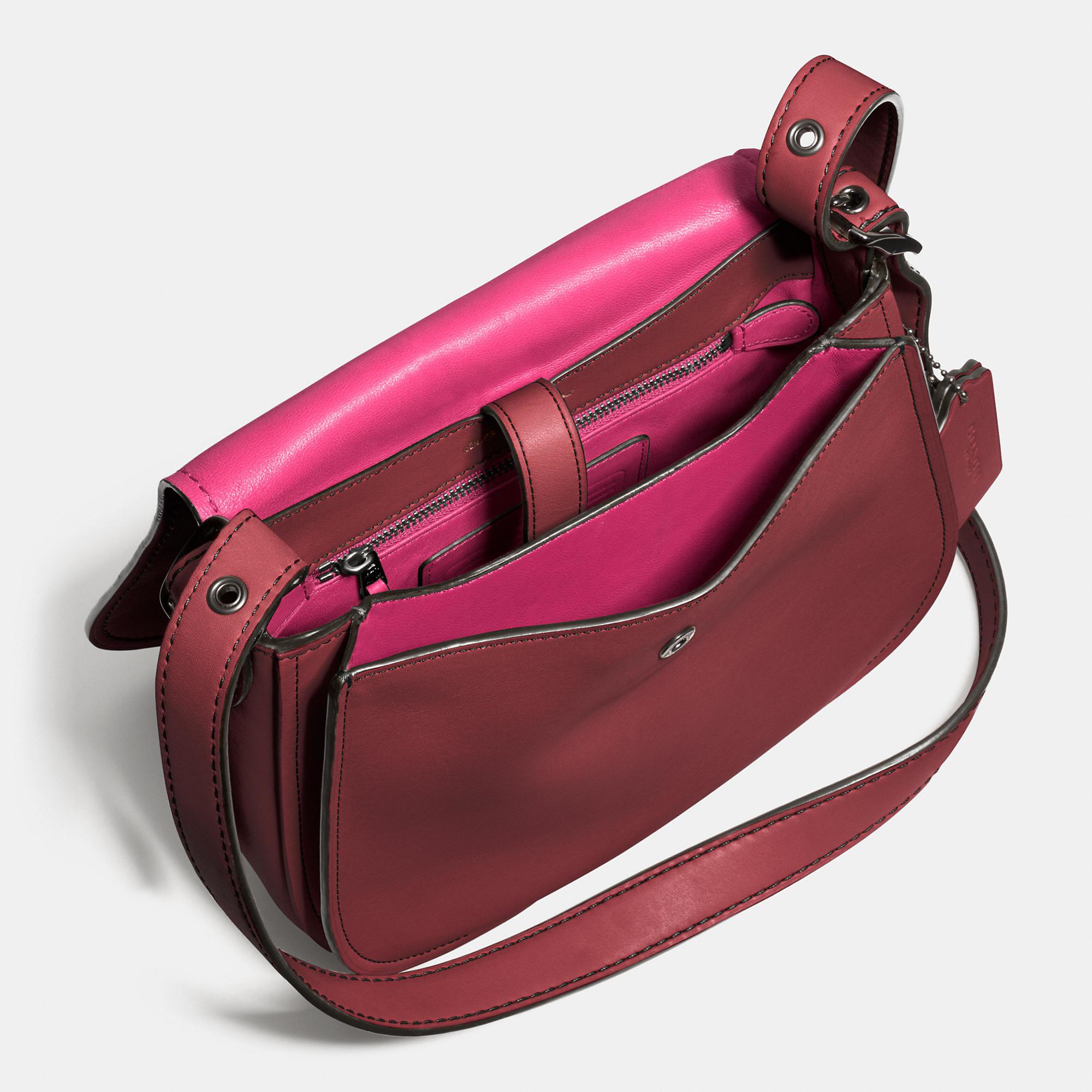 4c4b8022a32 ... ebay lyst coach saddle bag 23 in glovetanned leather in metallic fa5f1  fe008