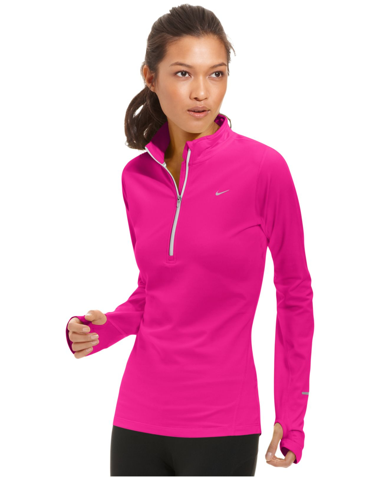 c176d8a9a21d Lyst - Nike Element Dri-fit Half-zip Pullover in Pink