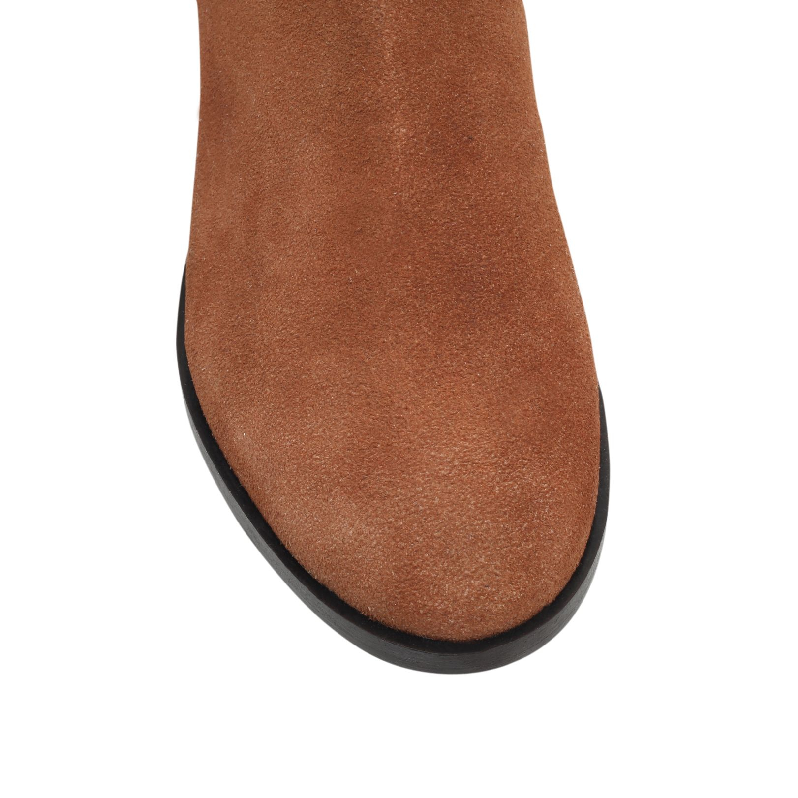 carvela kurt geiger turn flat pull on ankle boots in brown