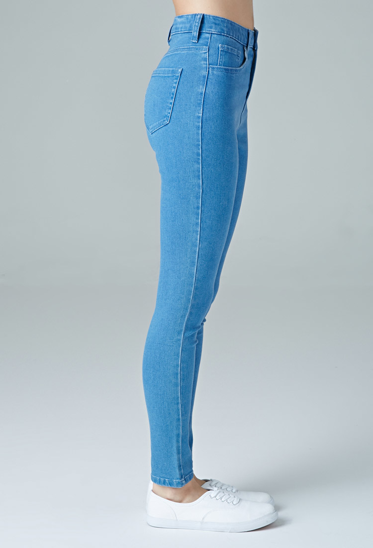 d3356b0382e3 Lyst - Forever 21 The Fairfax High Rise Jean in Blue