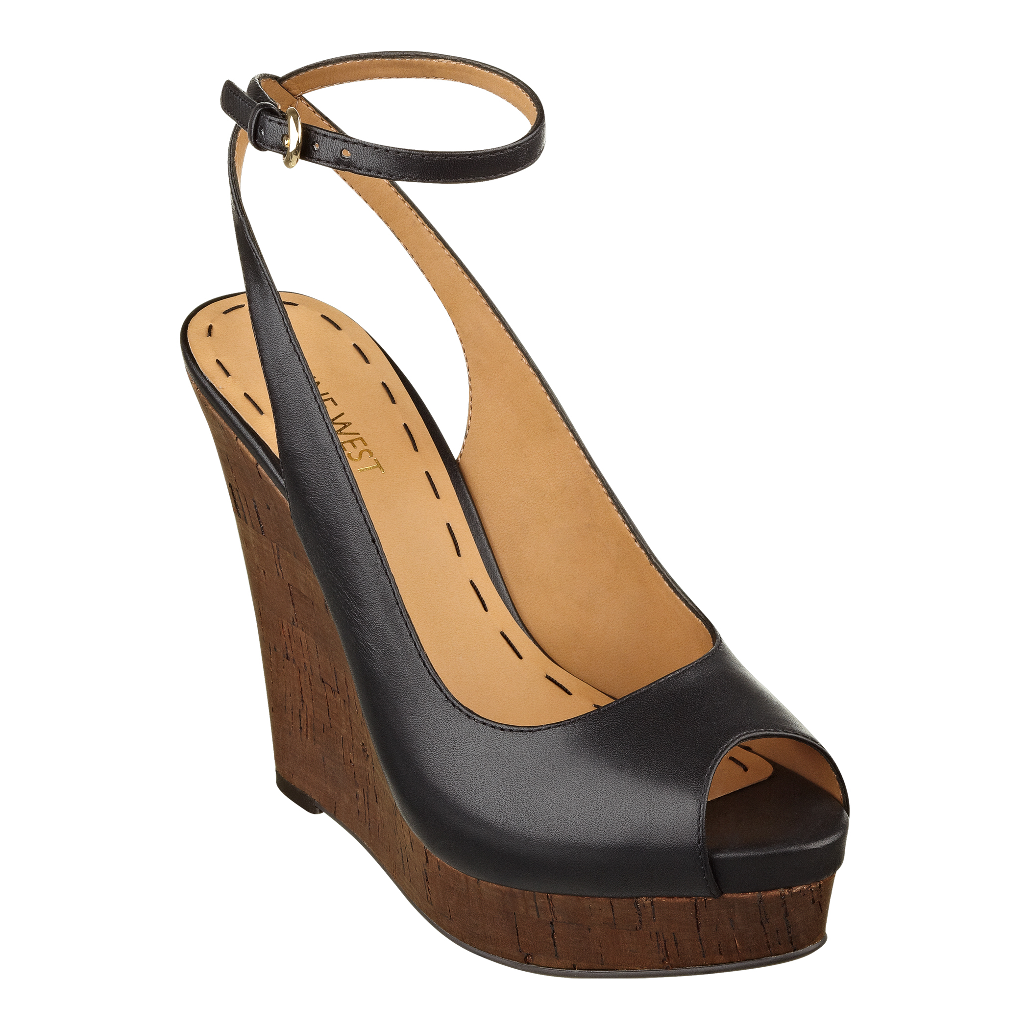 Nine West Peep Toe Wedge Shoes