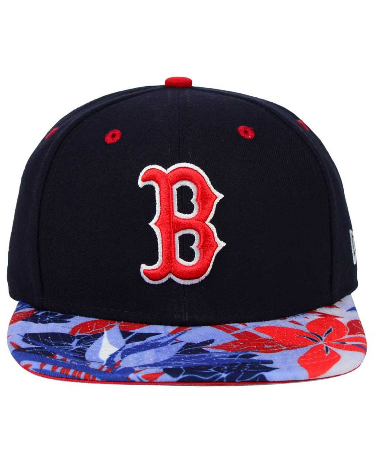 newest a6930 f9a10 ... get lyst ktz boston red sox floral viz 9fifty snapback cap in blue for  men 81cfa